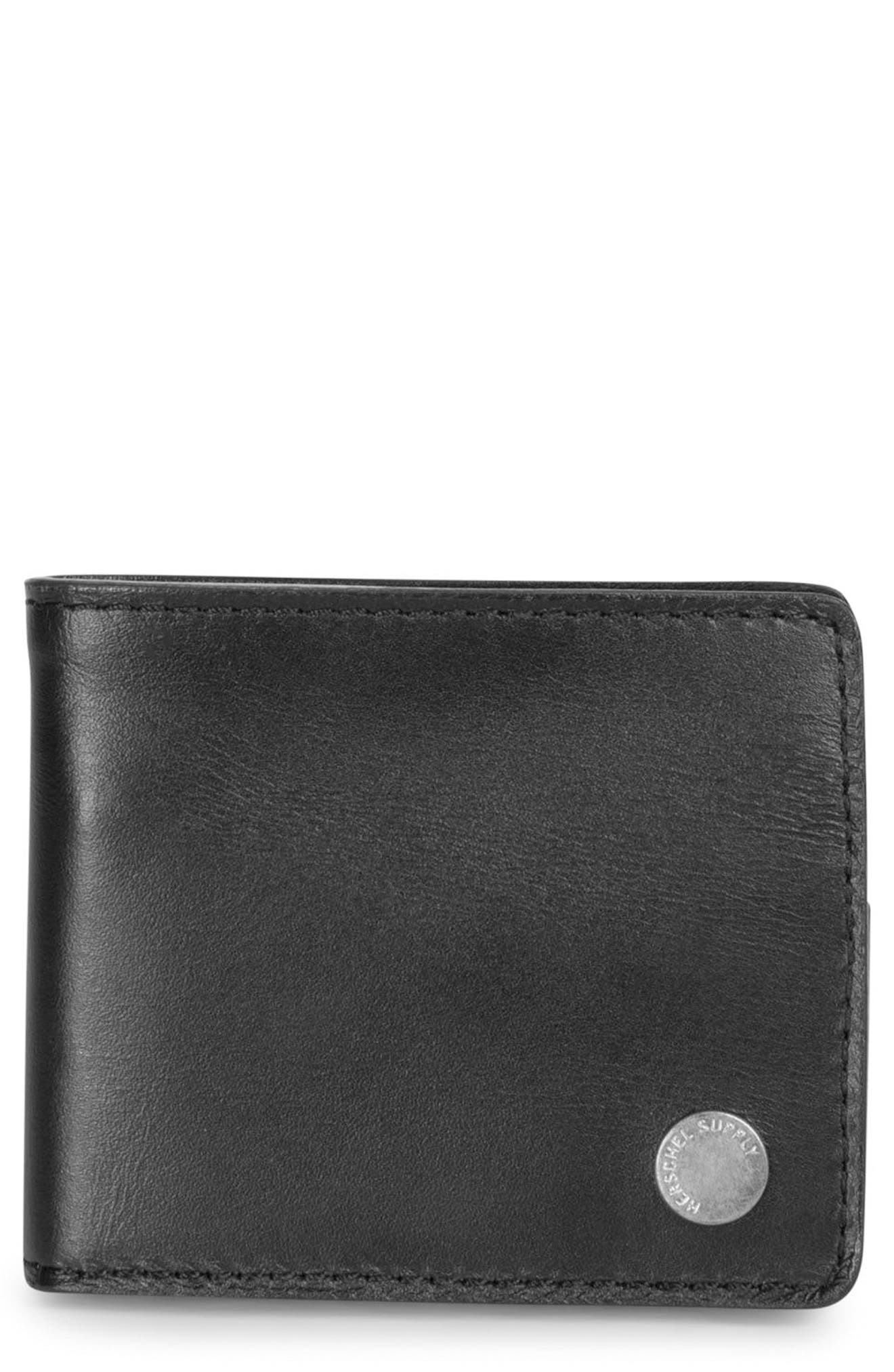 Vincent Saddle Leather Wallet,                             Main thumbnail 1, color,                             001