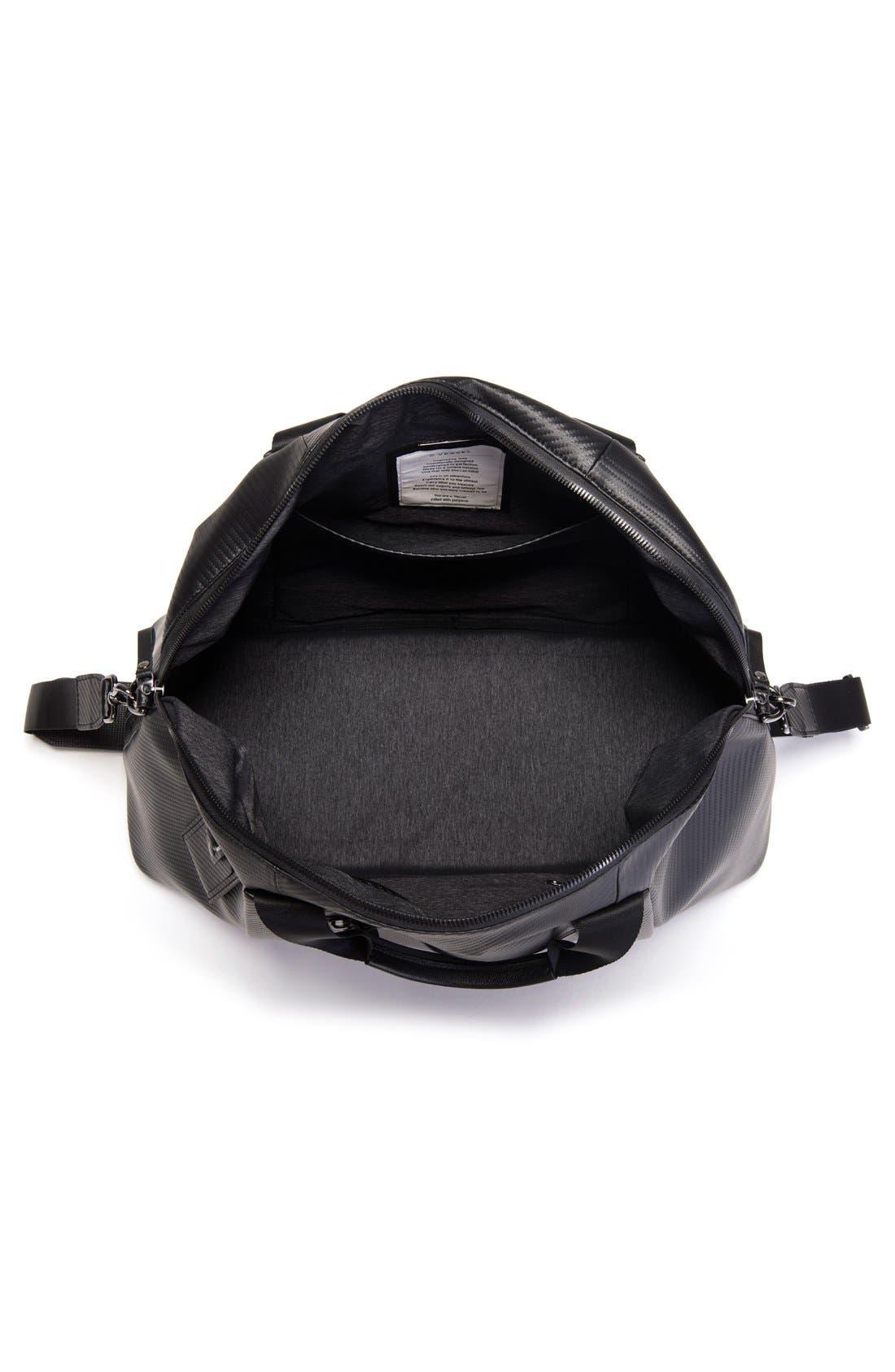 'Signature' Large Duffel Bag,                             Alternate thumbnail 4, color,                             CARBON BLACK