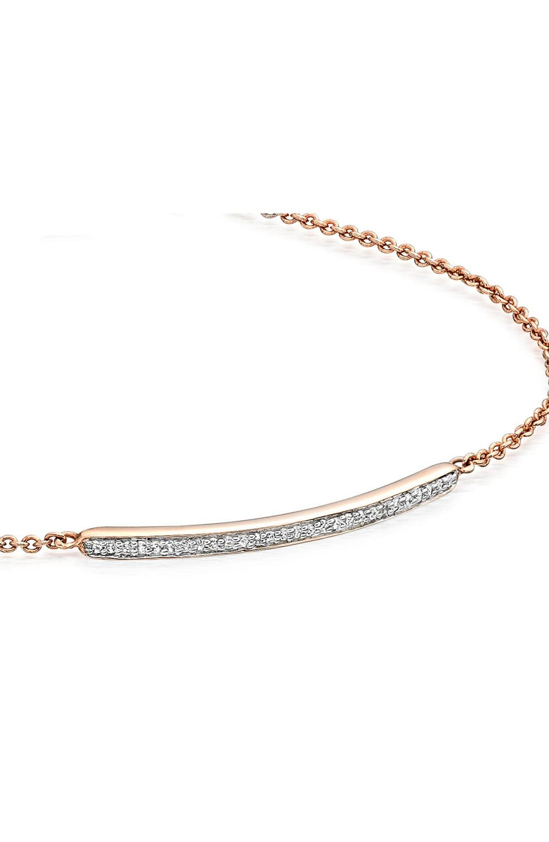 'Skinny' Diamond Bracelet,                             Alternate thumbnail 2, color,                             ROSE GOLD