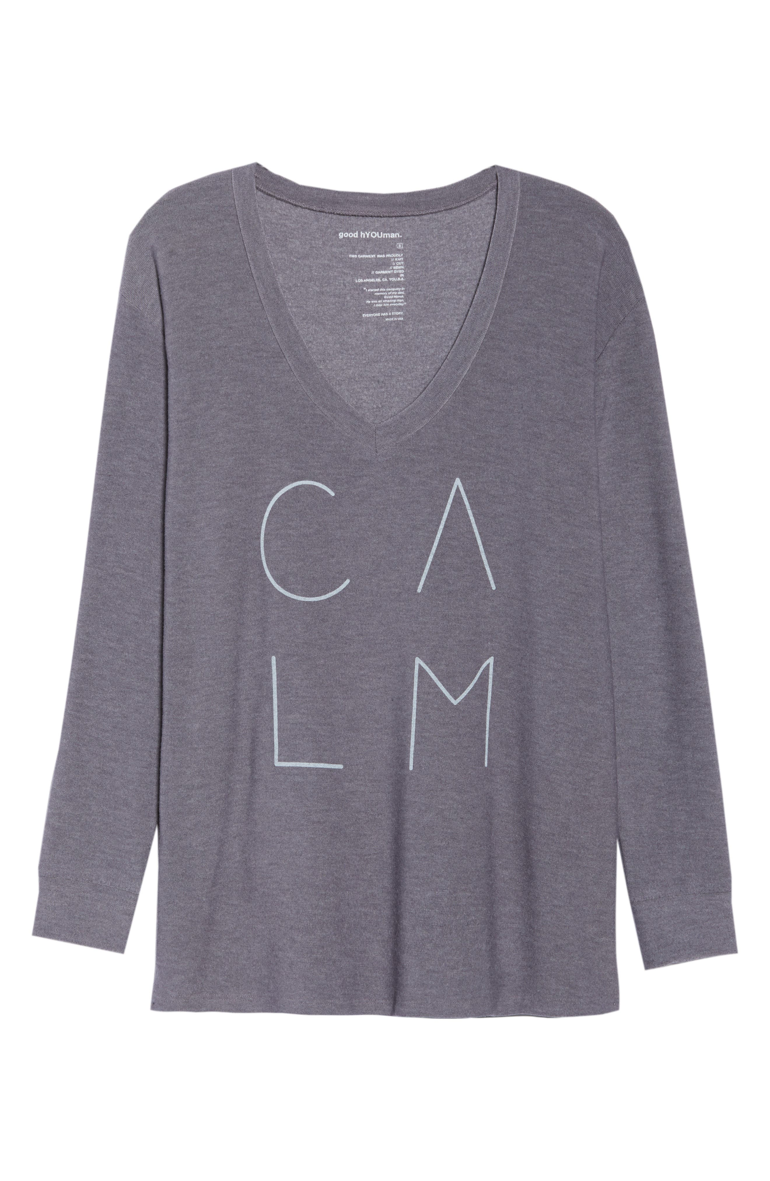 Robin Calm Sweater,                             Alternate thumbnail 7, color,                             CHARCOAL