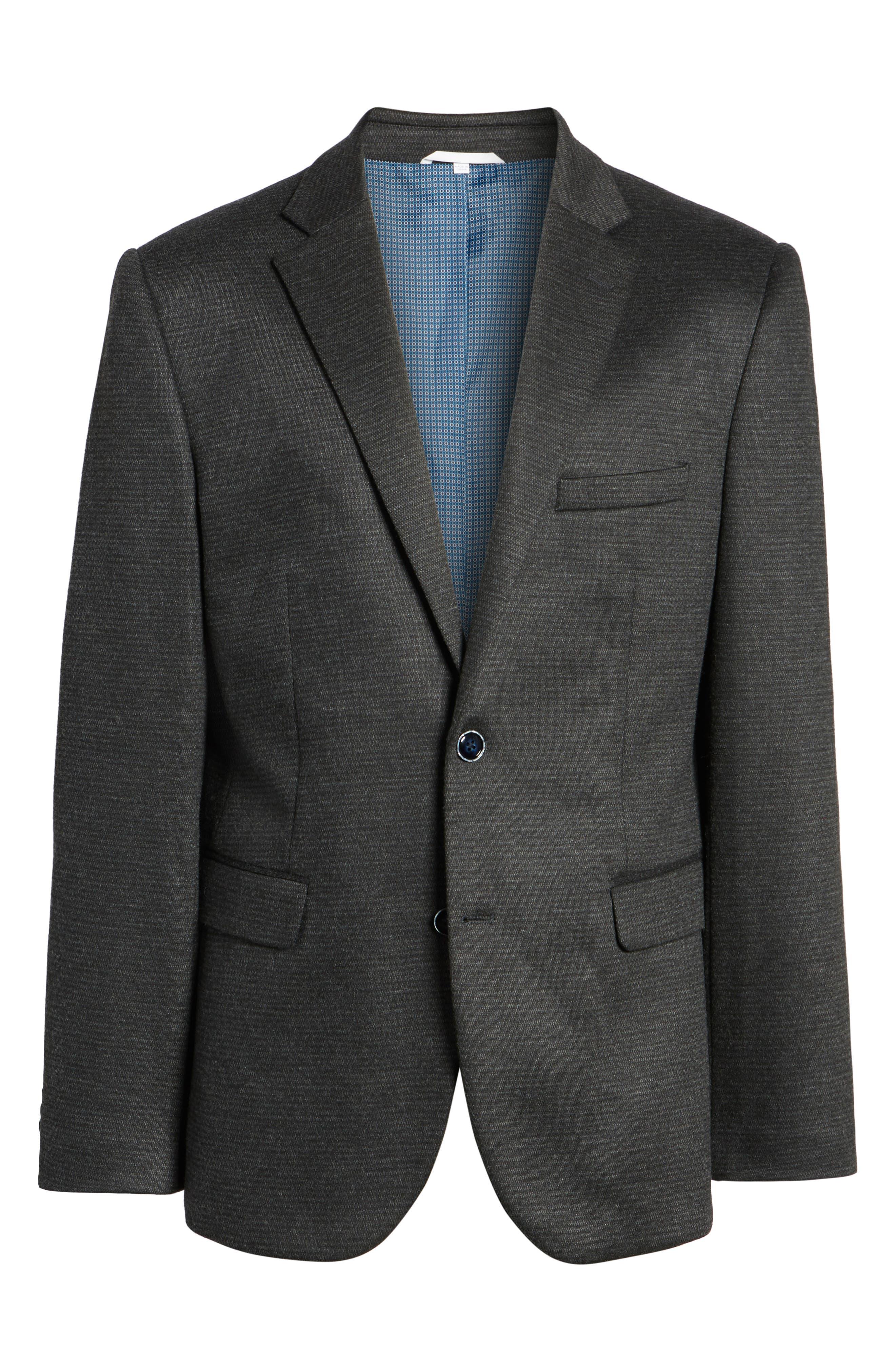 Trim Fit Solid Sport Coat,                             Alternate thumbnail 5, color,