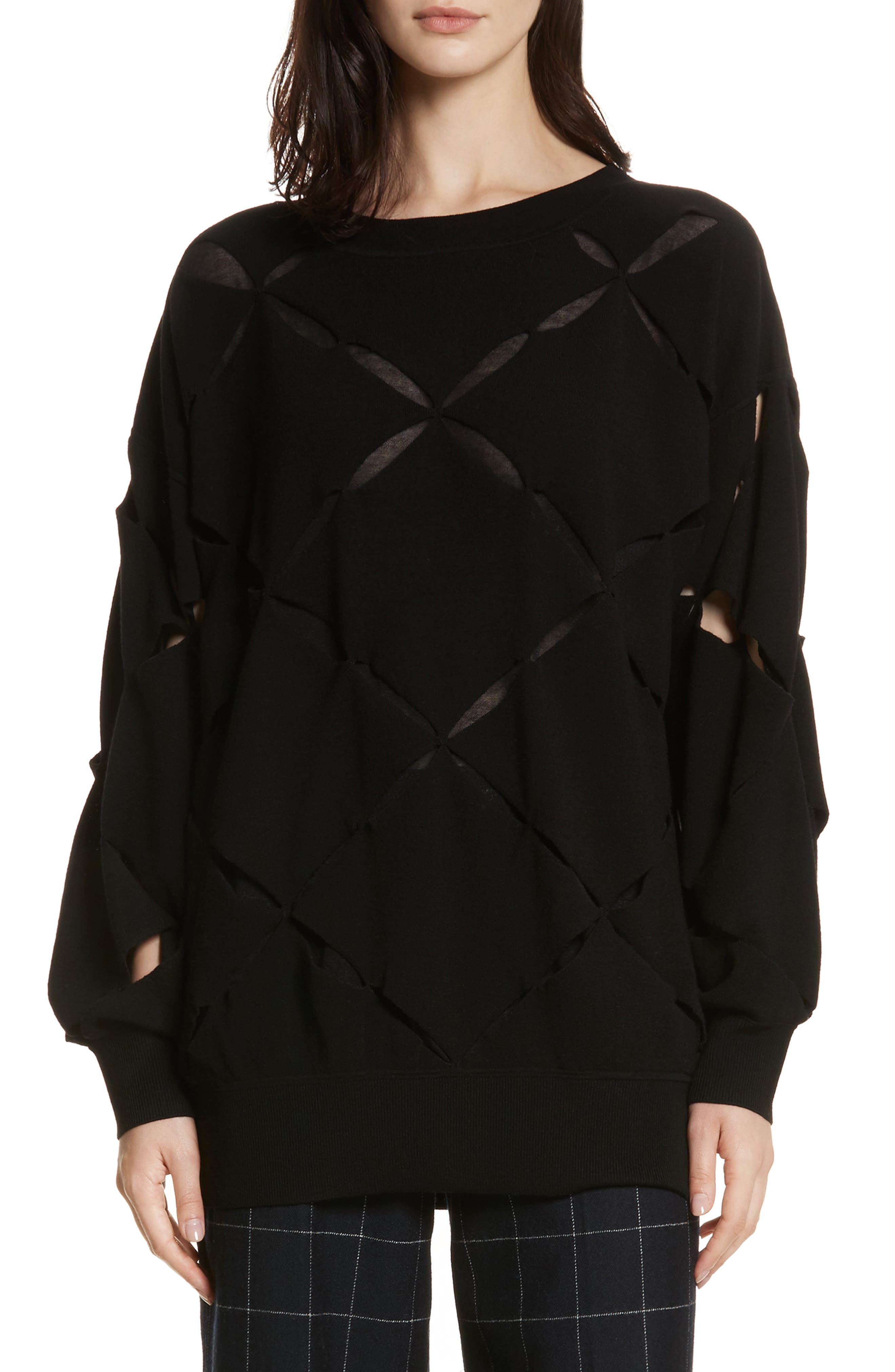 Roz Cutout Sweater,                             Main thumbnail 1, color,                             001