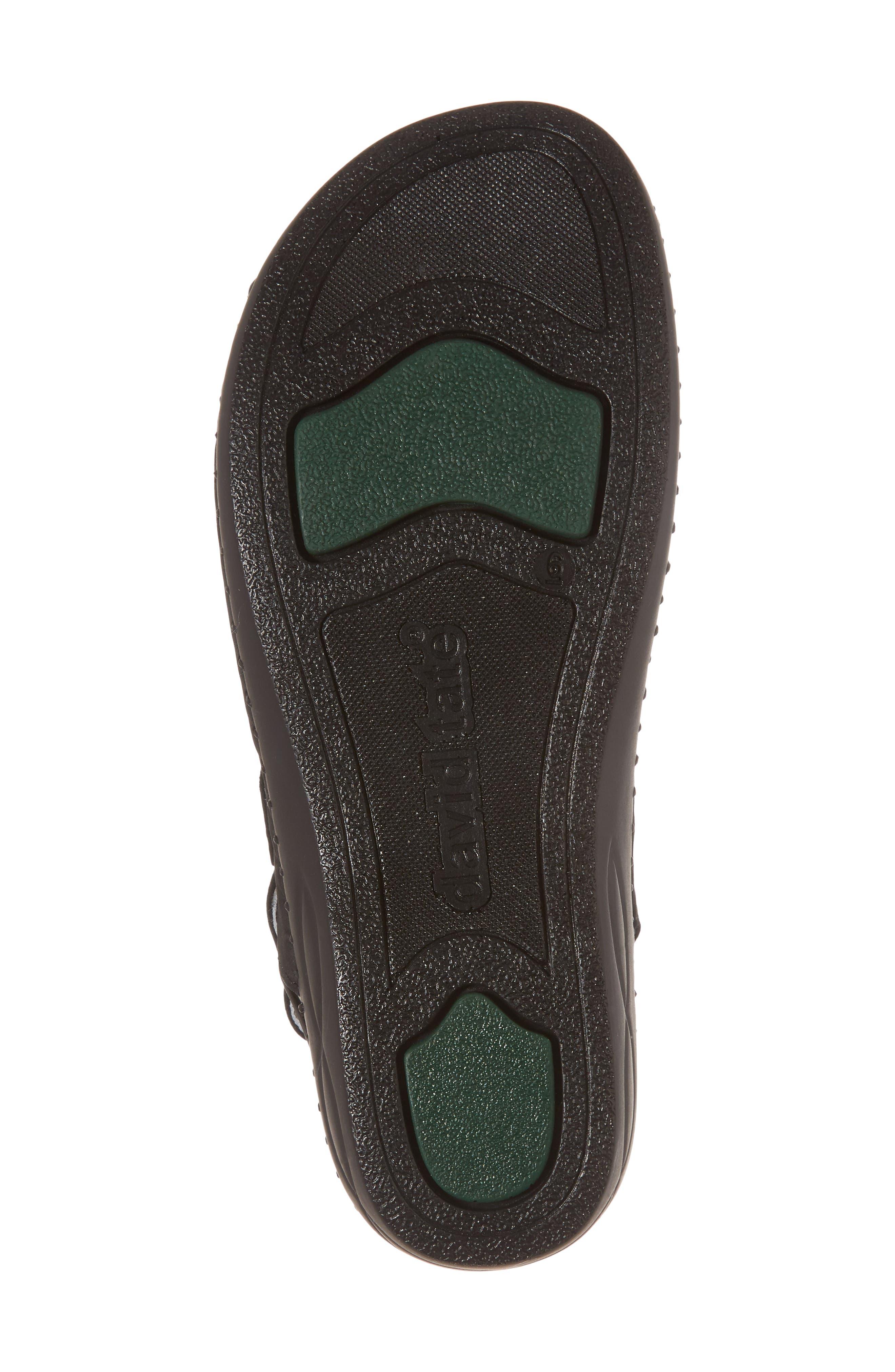 Luna Slingback Wedge Sandal,                             Alternate thumbnail 6, color,                             BLACK NUBUCK