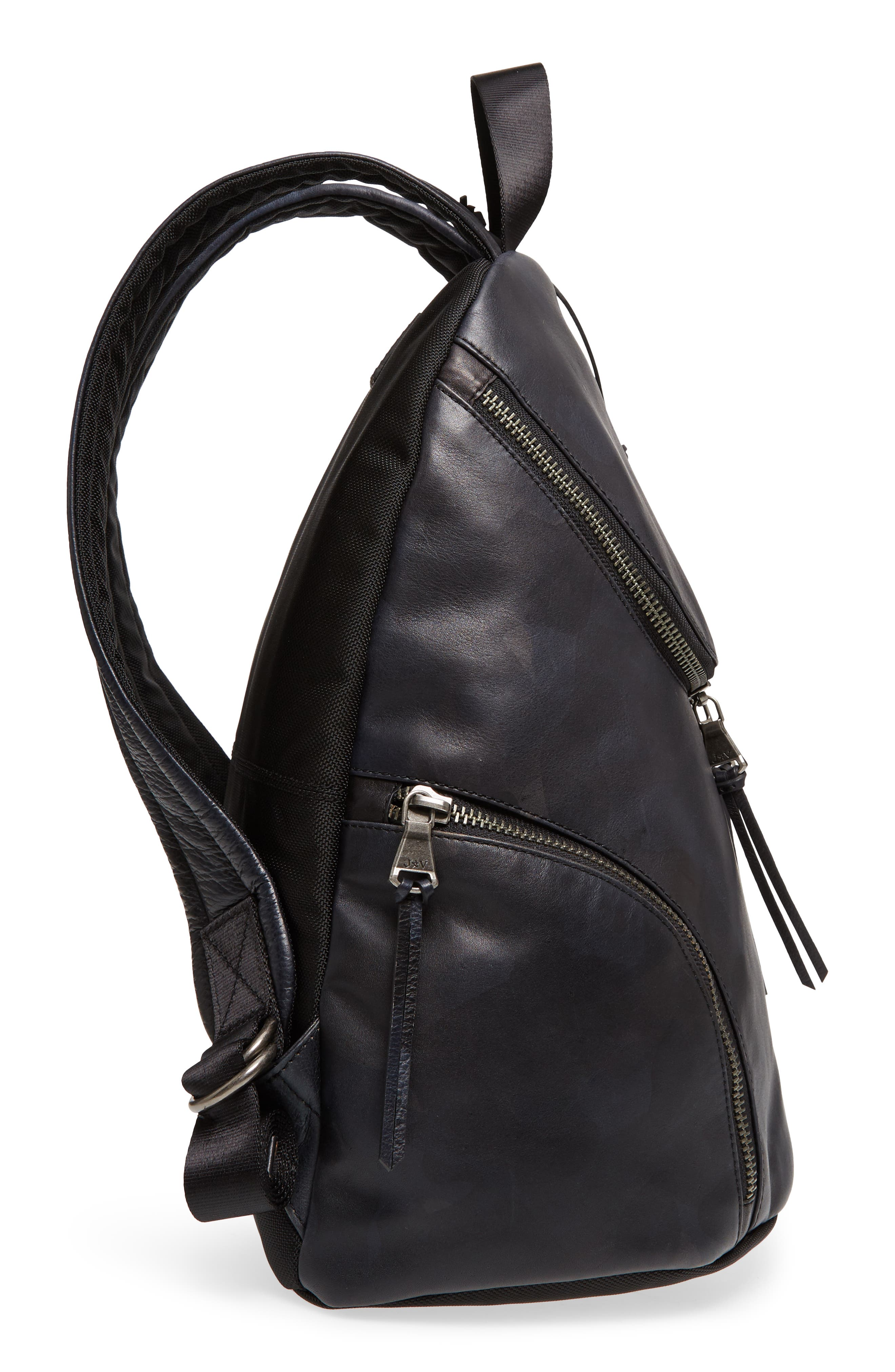 Brooklyn Suede Backpack,                             Alternate thumbnail 5, color,                             MIDNIGHT