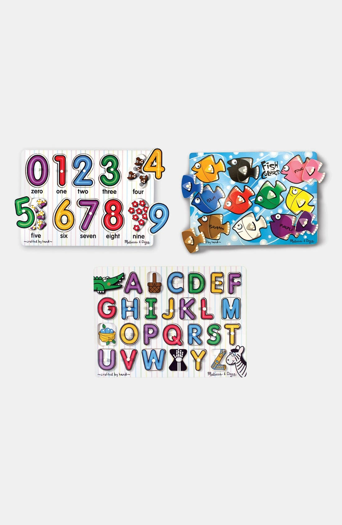 Set of 3 Classic Peg Puzzles,                         Main,                         color, 100