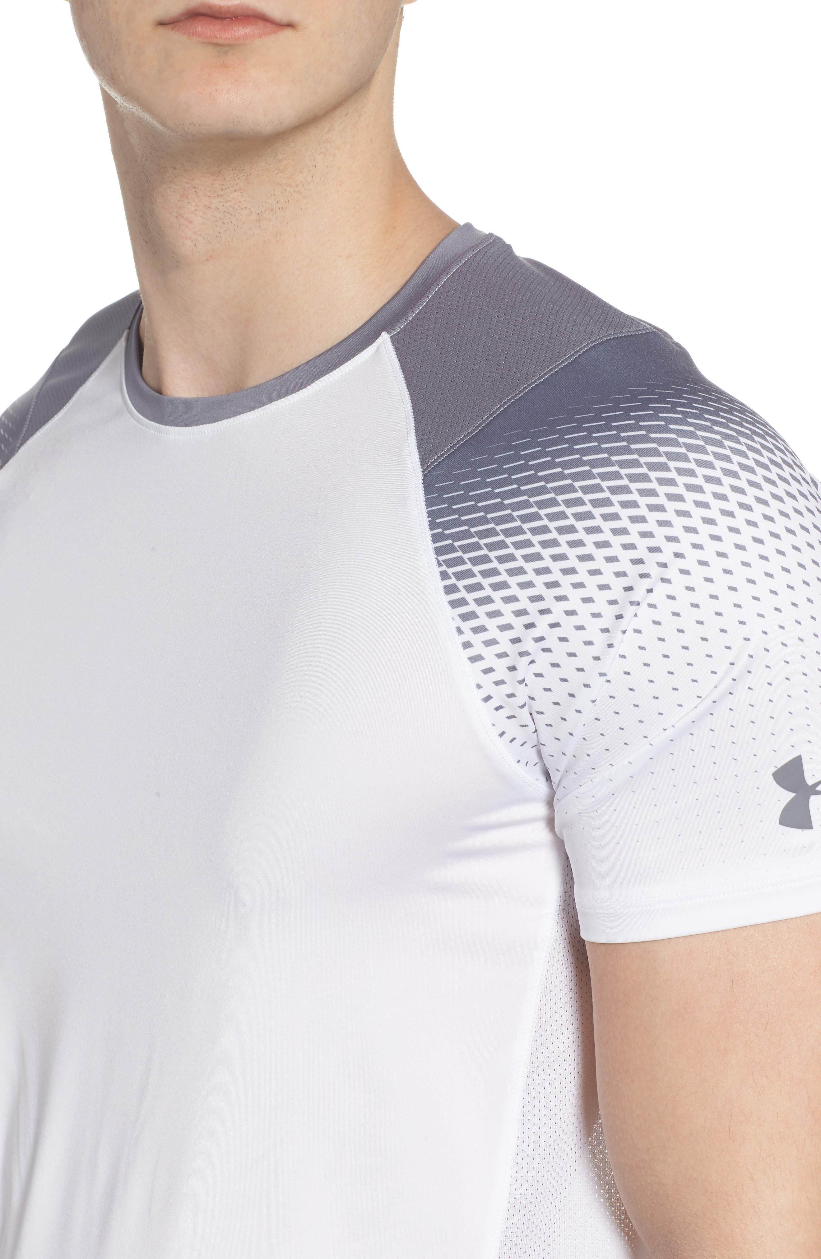 MK1 Dash Print Crewneck T-Shirt,                             Alternate thumbnail 4, color,                             WHITE / ZINC GREH / GRAPHITE
