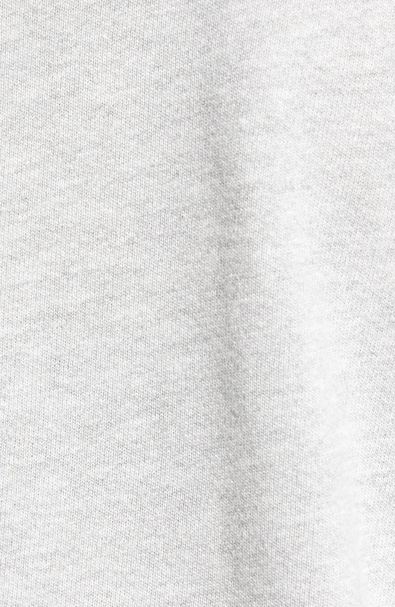 Side Tie High Neck Sweatshirt,                             Alternate thumbnail 6, color,                             055