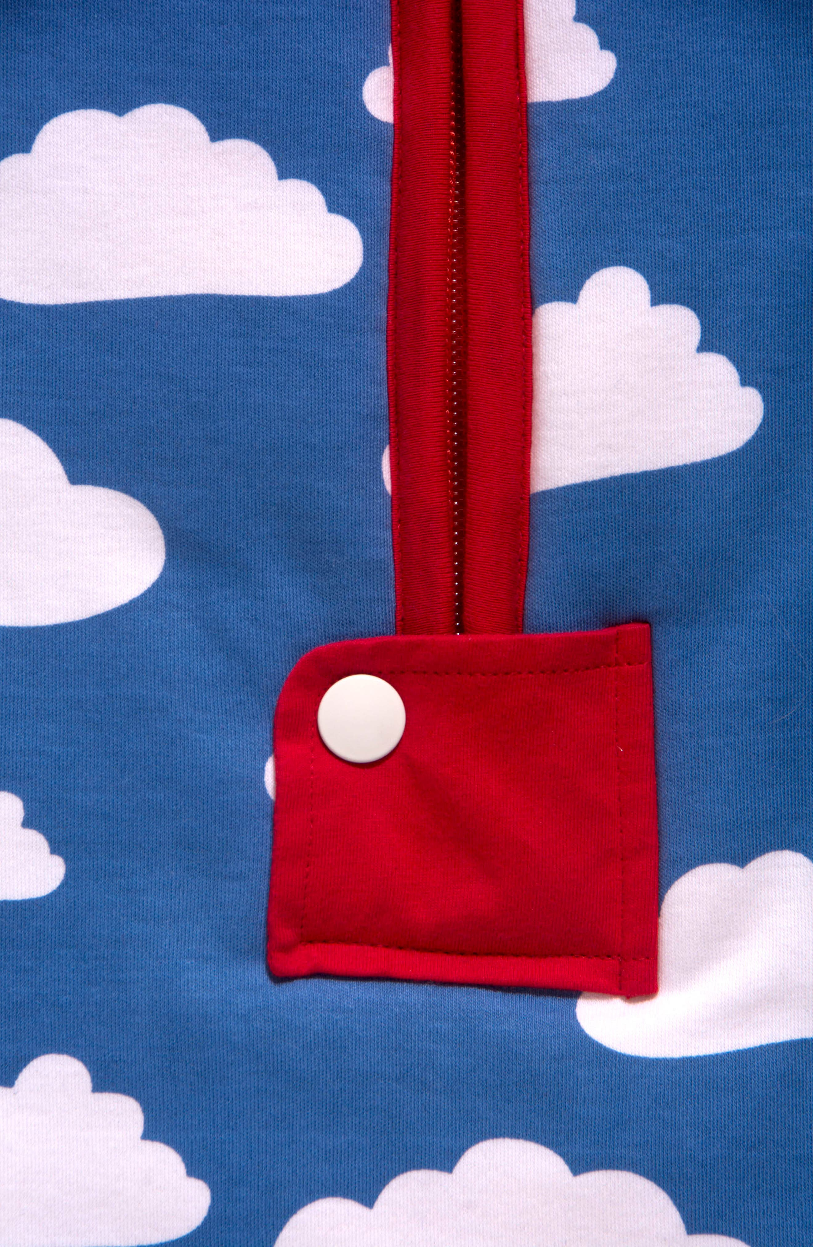 Clouds Organic Cotton Wearable Blanket,                             Alternate thumbnail 4, color,                             400
