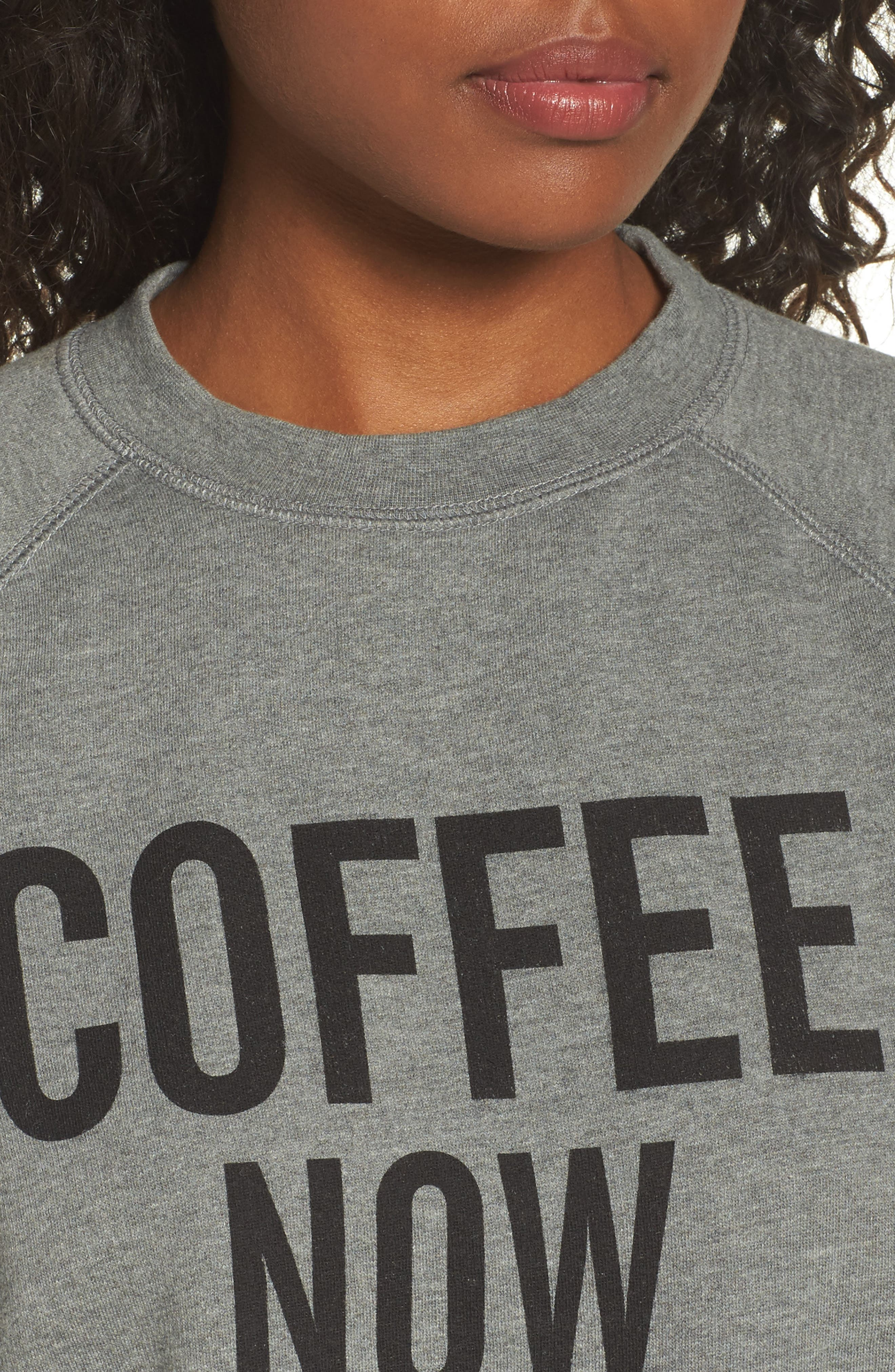 Coffee Now Lounge Sweatshirt,                             Alternate thumbnail 4, color,