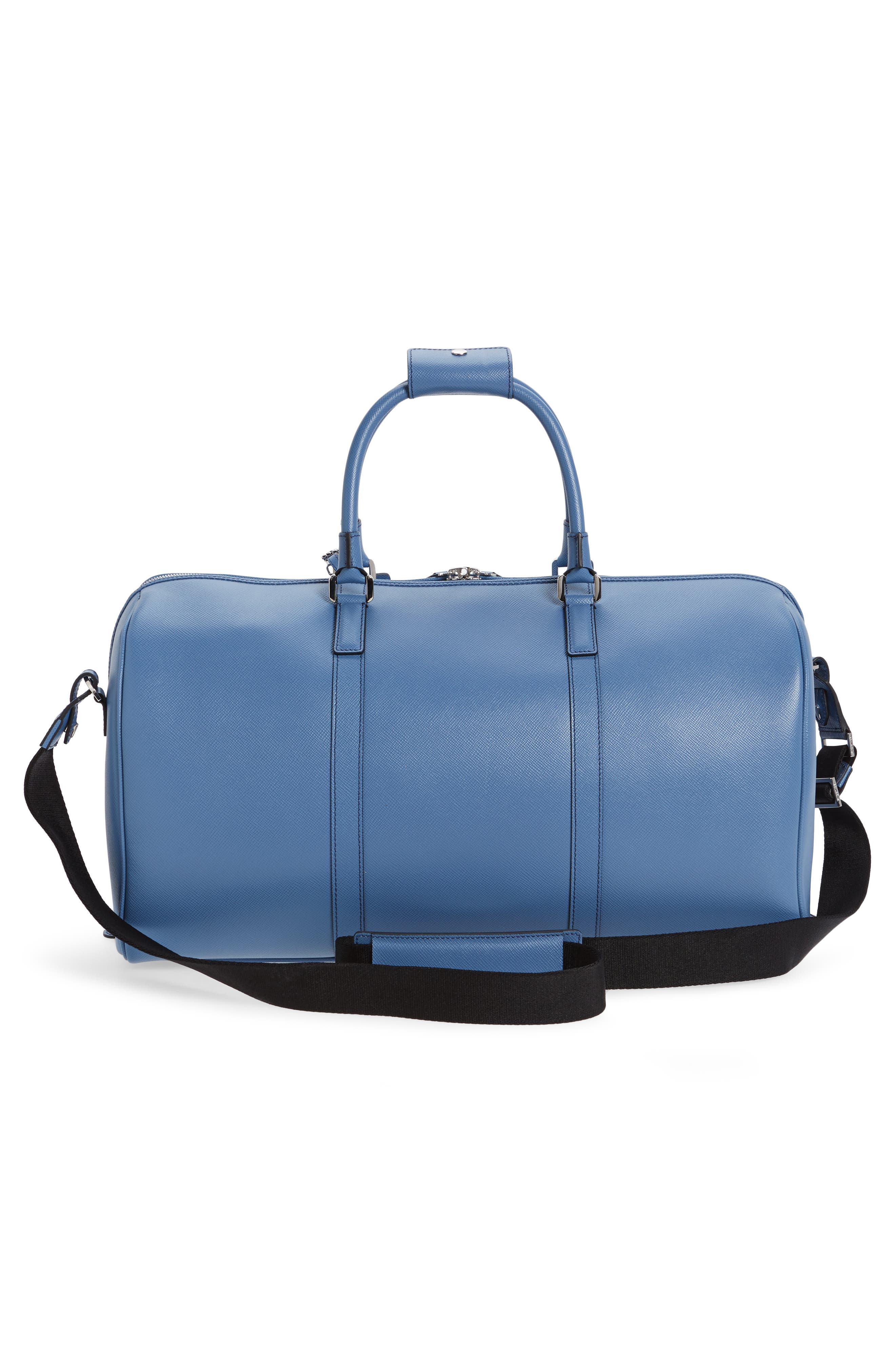 Small Evolution Leather Duffel Bag,                             Alternate thumbnail 12, color,