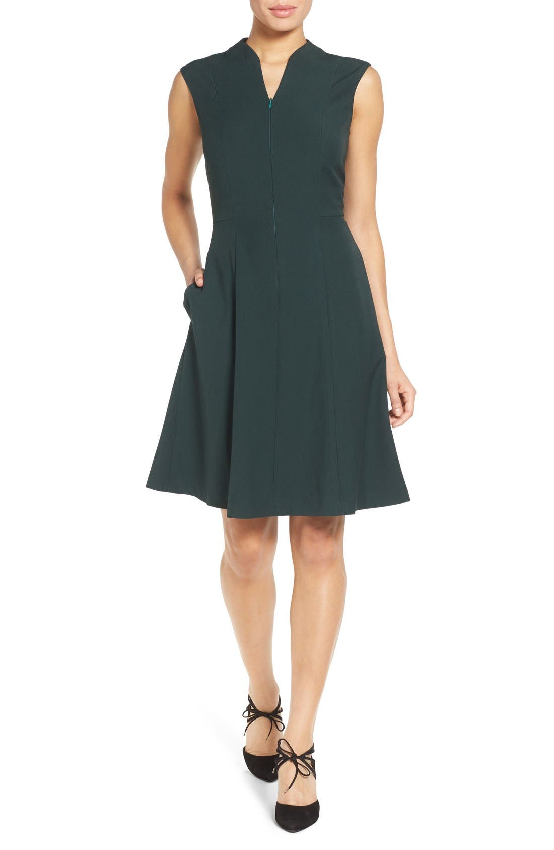 Fit & Flare Dress,                             Main thumbnail 3, color,