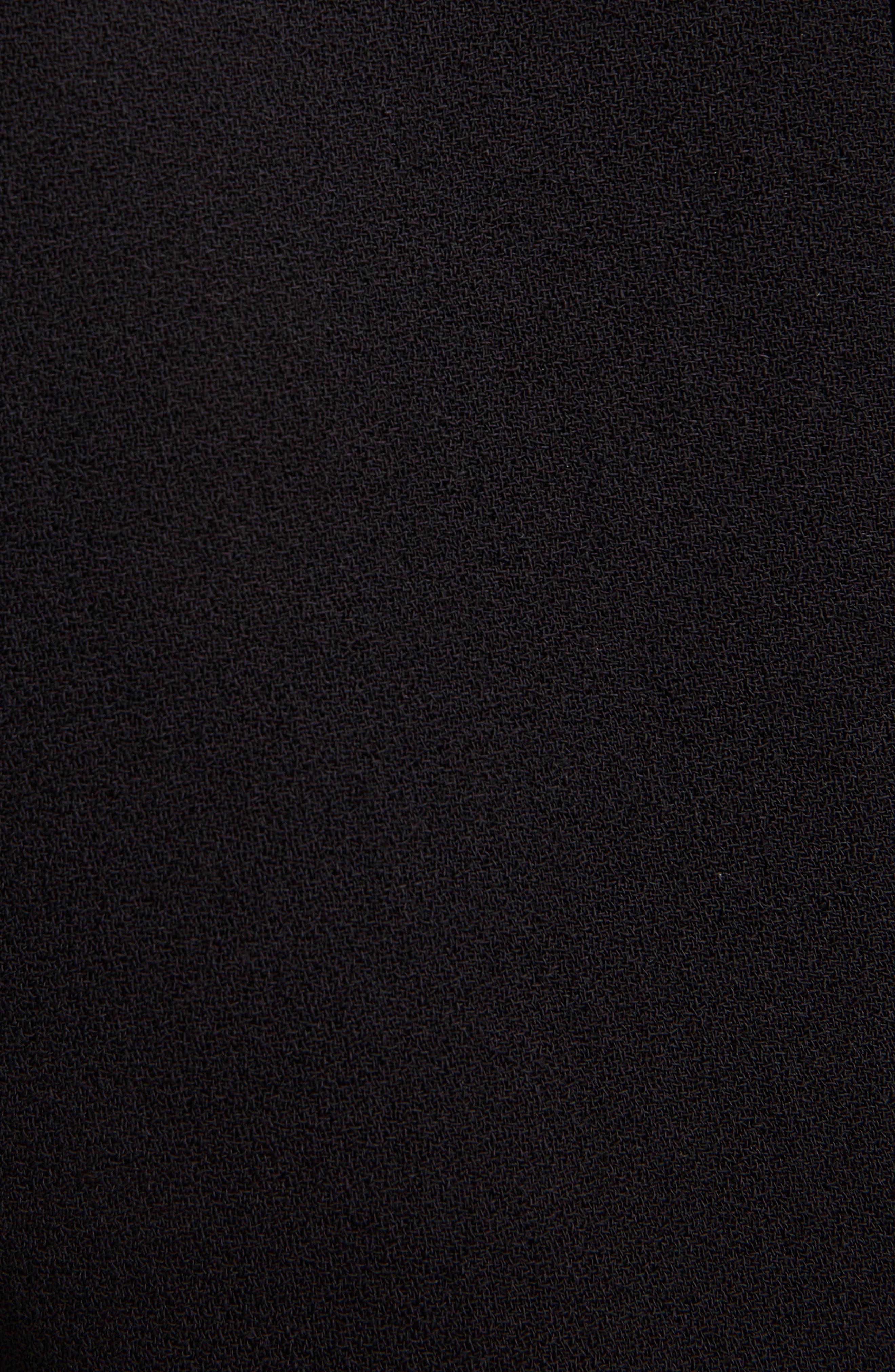 Lace Illusion Dress,                             Alternate thumbnail 5, color,                             001-BLACK
