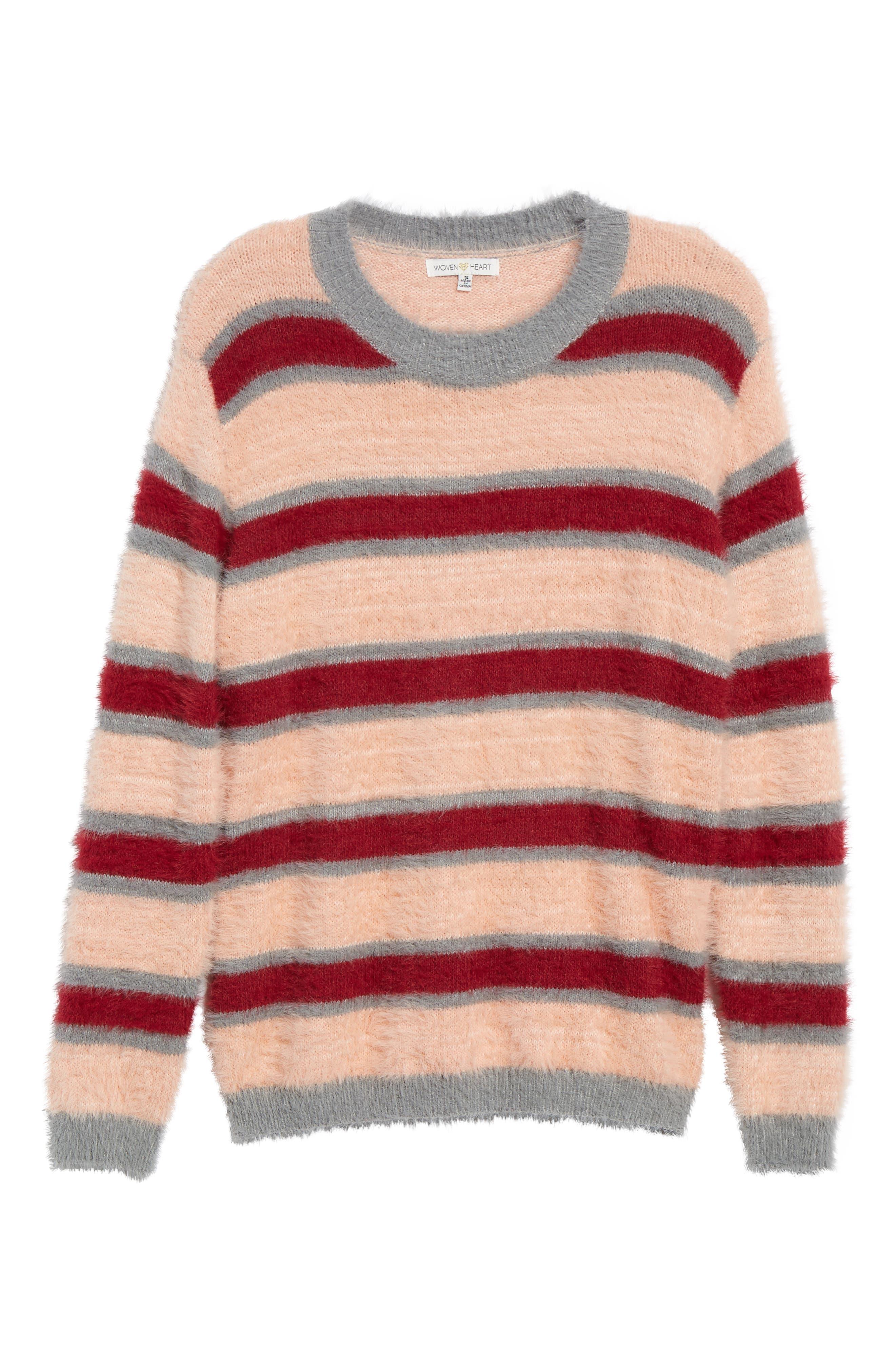 Stripe Eyelash Sweater,                             Alternate thumbnail 6, color,                             650