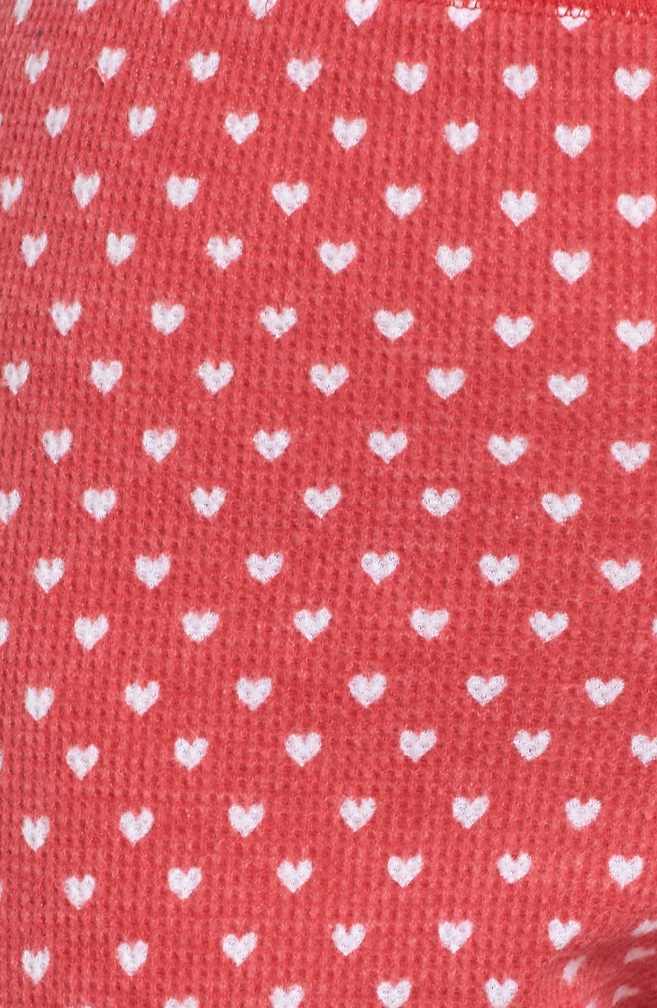 Thermal Leggings,                             Alternate thumbnail 5, color,                             RED LIPSTICK HEART