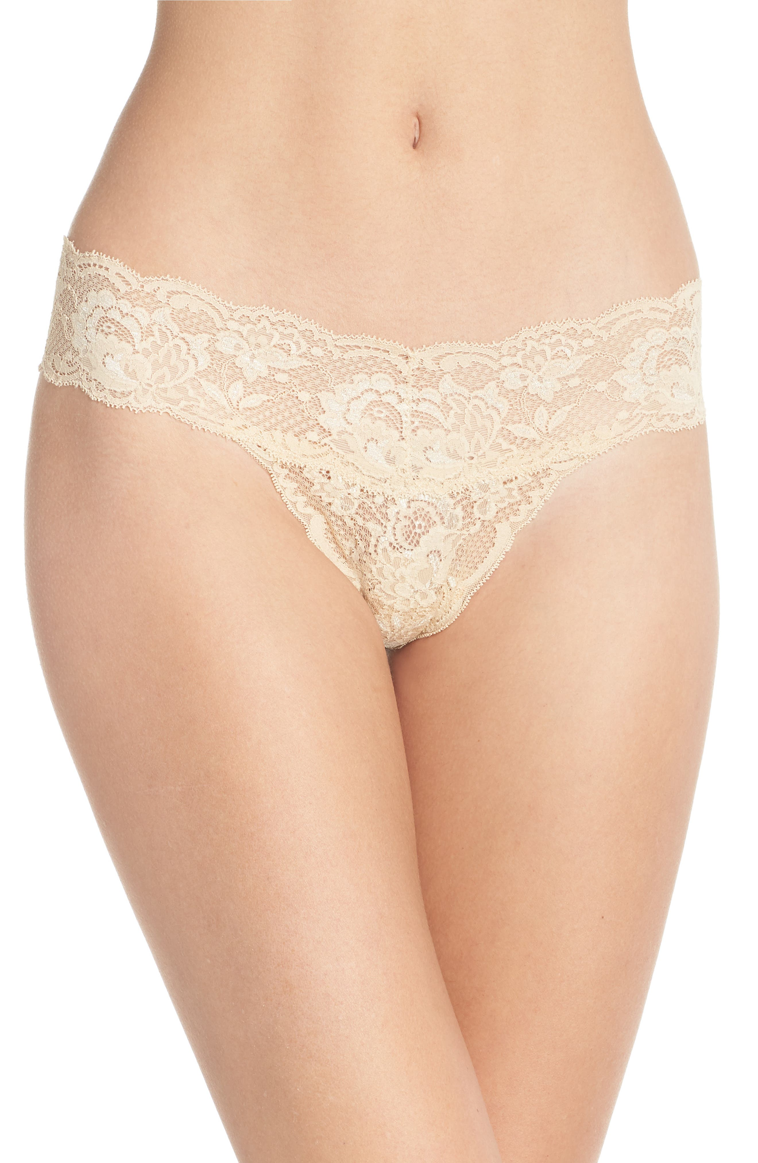 'Never Say Never Cutie' Thong,                             Alternate thumbnail 110, color,