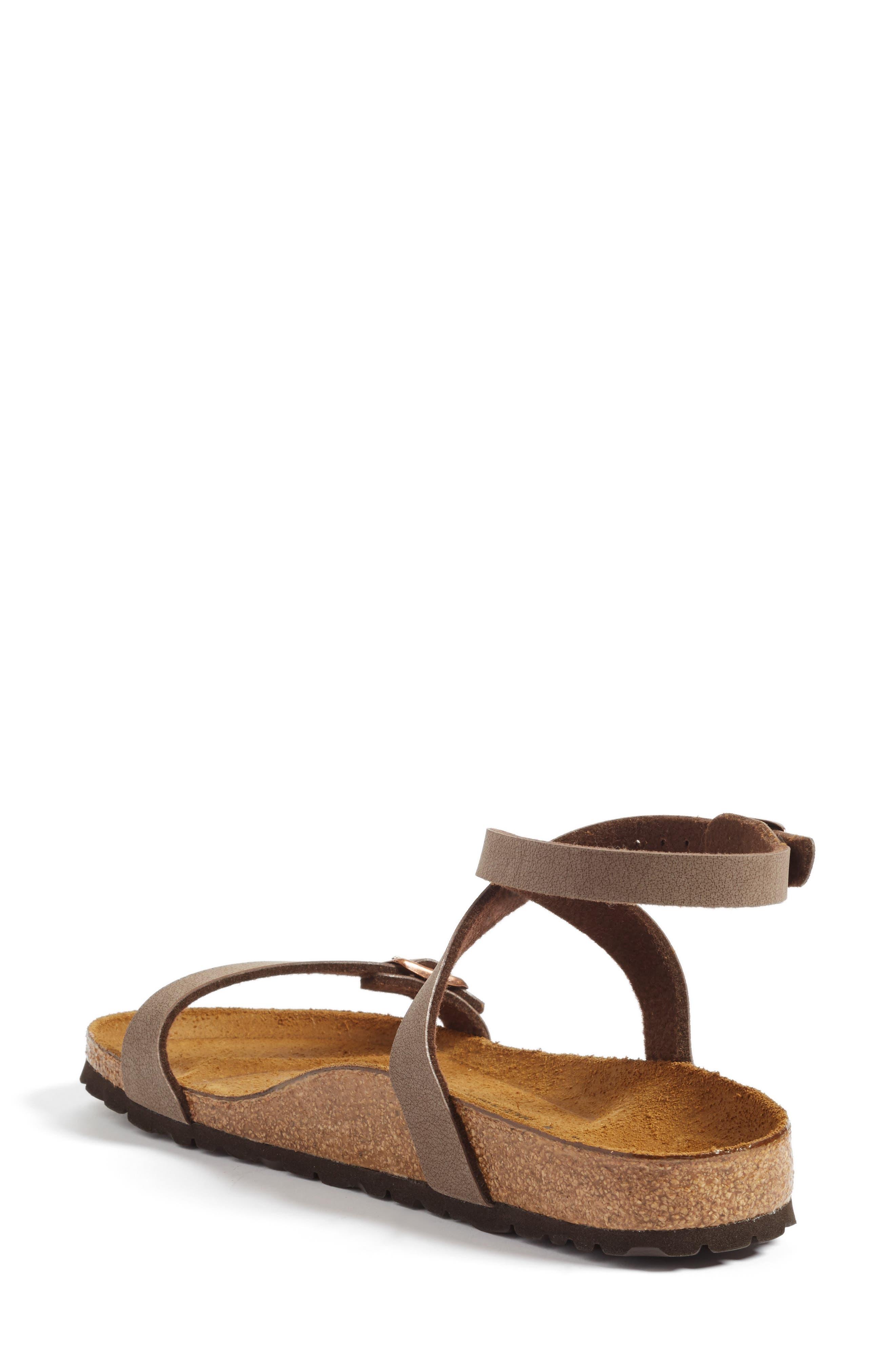 Daloa Ankle Strap Sandal,                             Alternate thumbnail 2, color,                             MOCHA