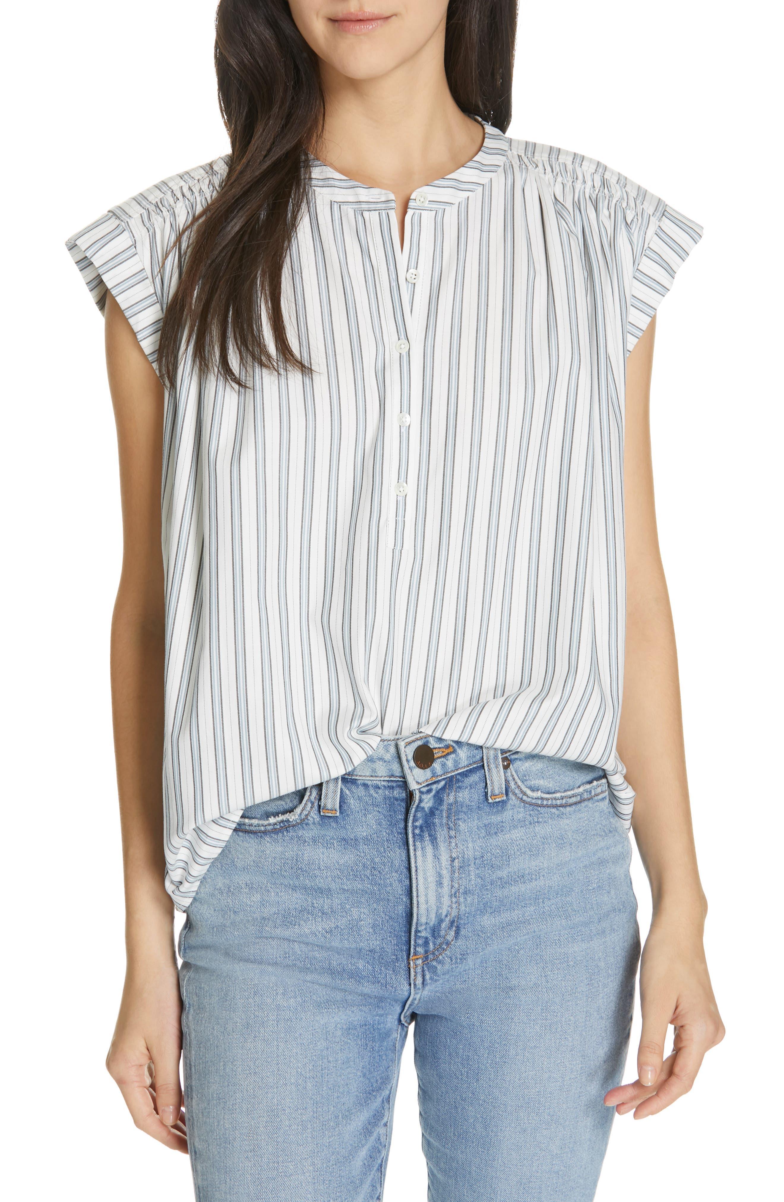 Jacquita Stripe Top, Main, color, 100