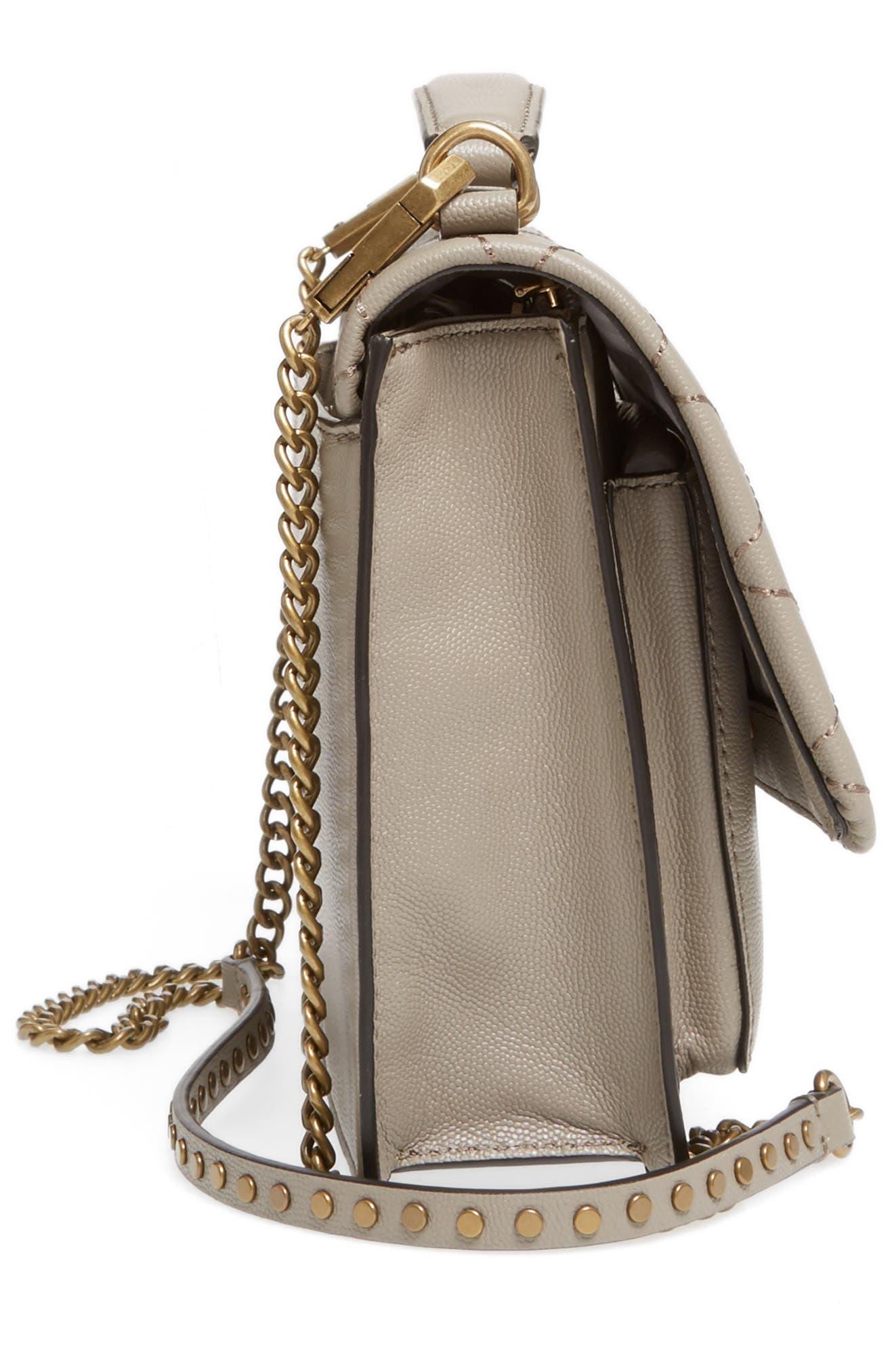 Medium Je T'aime Convertible Leather Crossbody Bag,                             Alternate thumbnail 44, color,