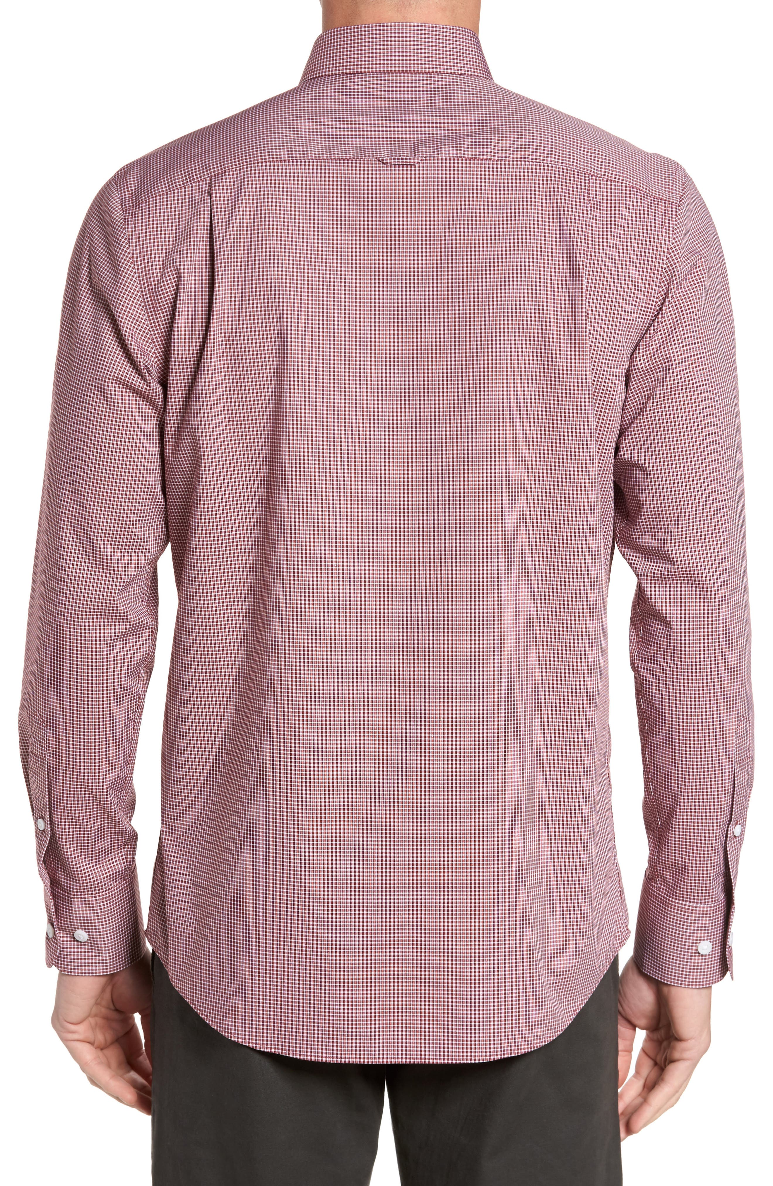 Non-Iron Microcheck Sport Shirt,                             Alternate thumbnail 2, color,                             610