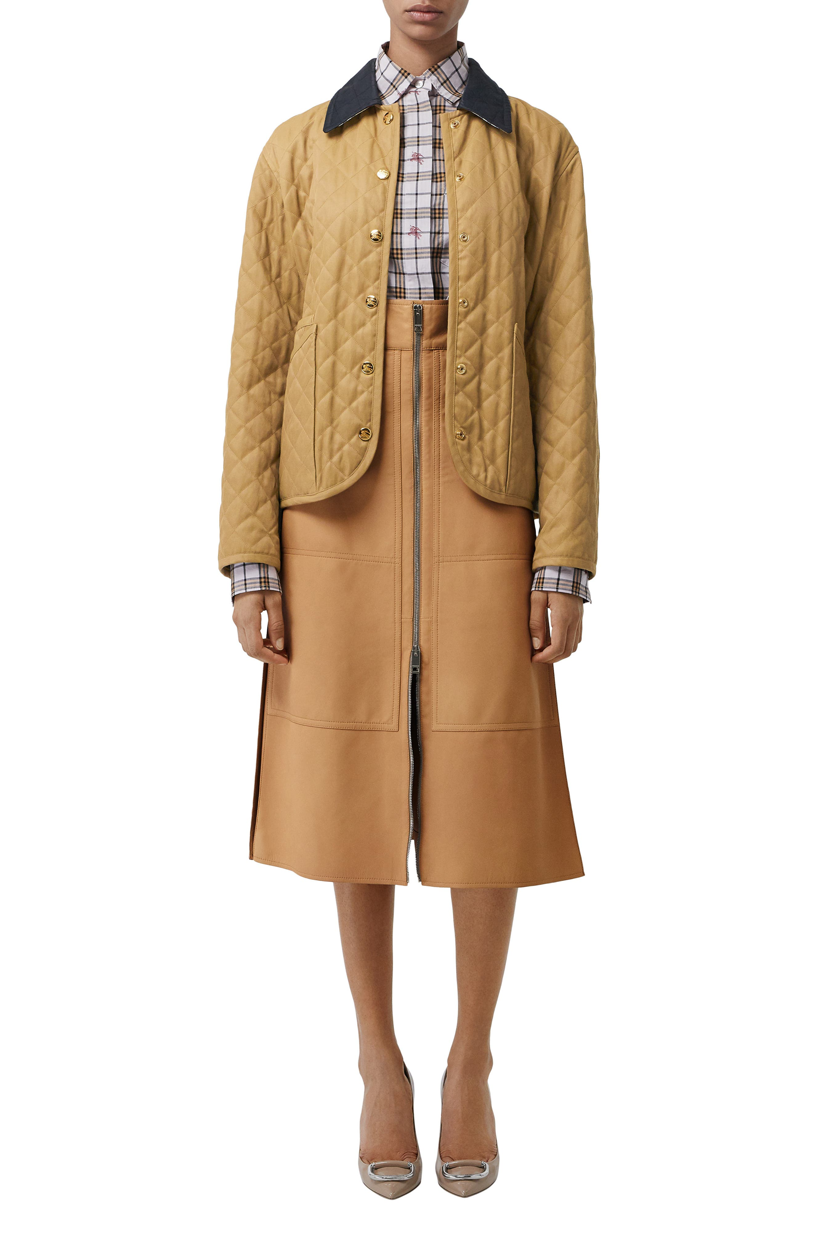 Dranefeld Quilted Jacket,                             Alternate thumbnail 7, color,                             CAMEL