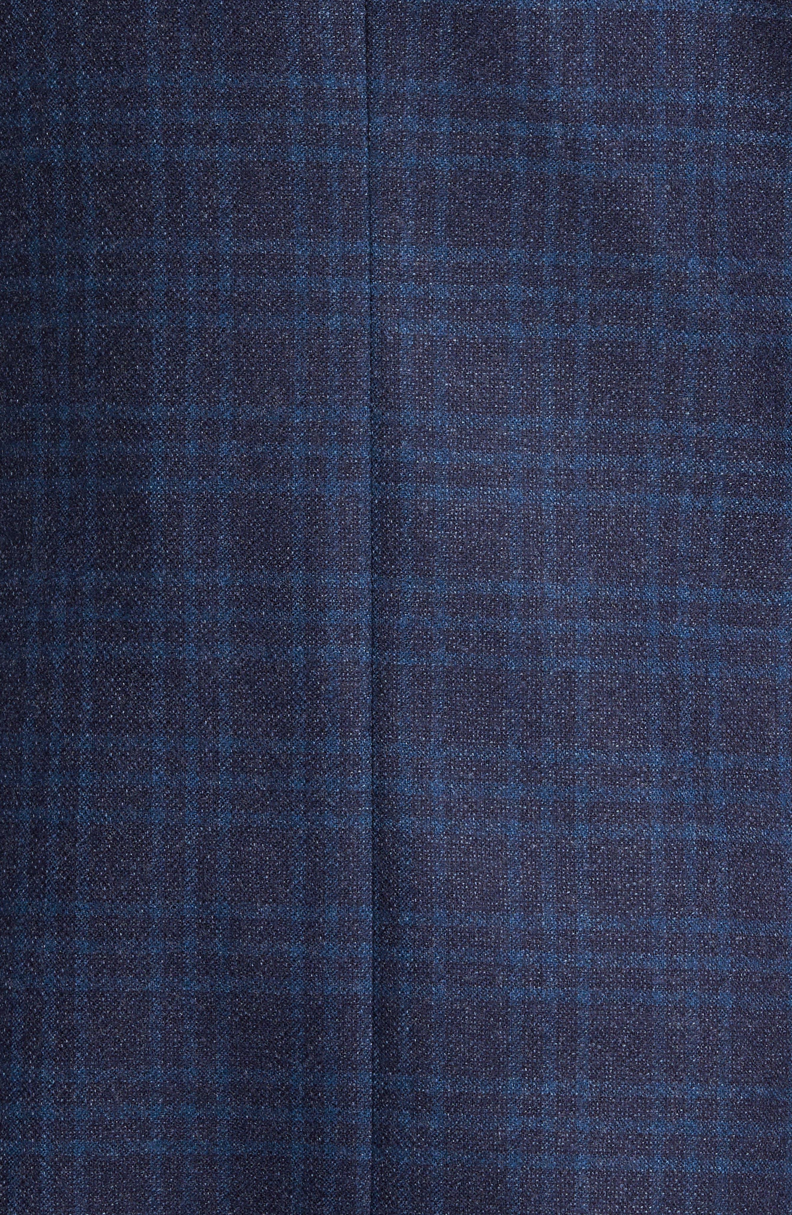 Trim Fit Plaid Wool Sport Coat,                             Alternate thumbnail 6, color,                             400