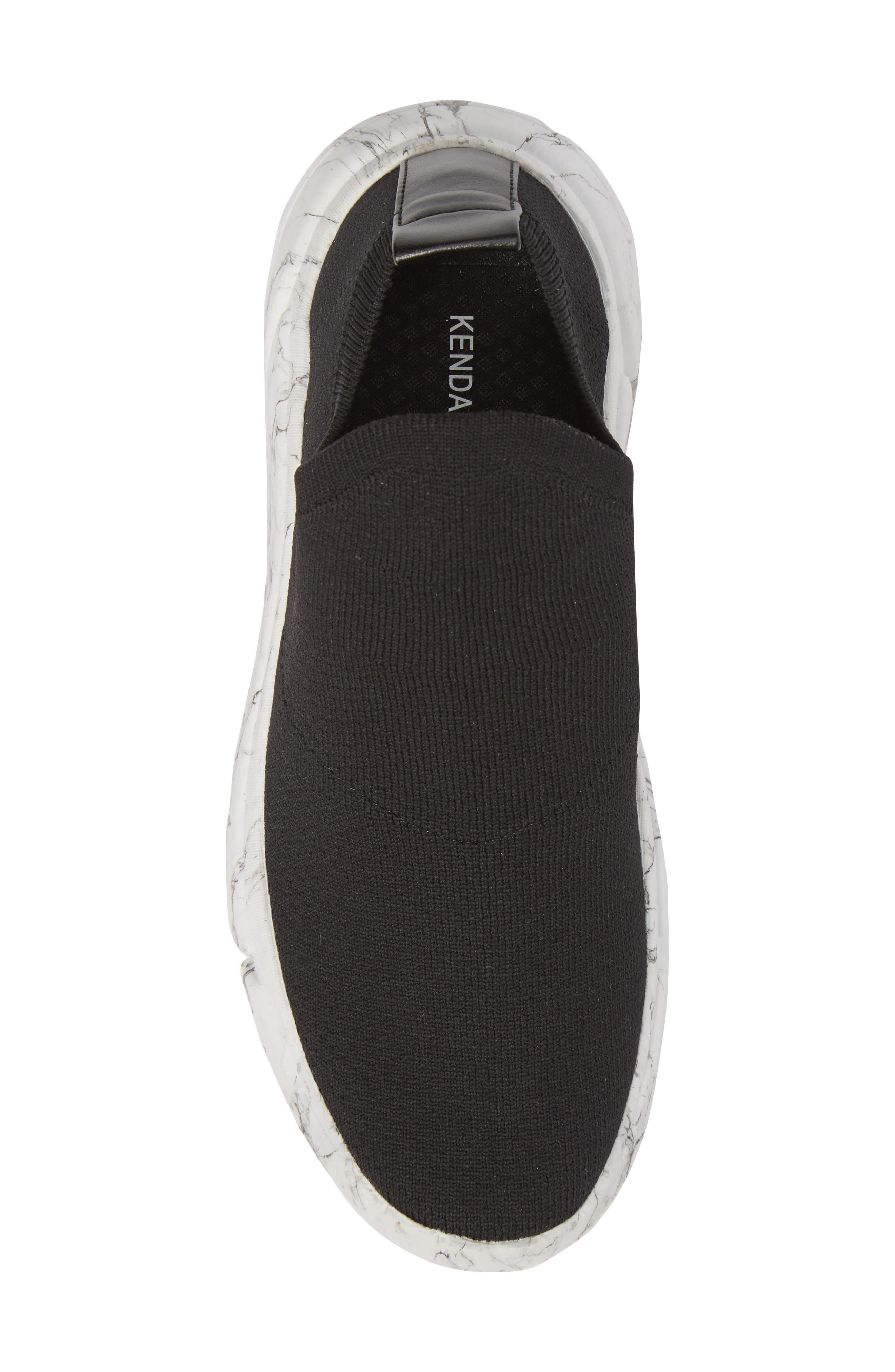 Caleb Knit Sneaker,                             Alternate thumbnail 5, color,                             BLACK
