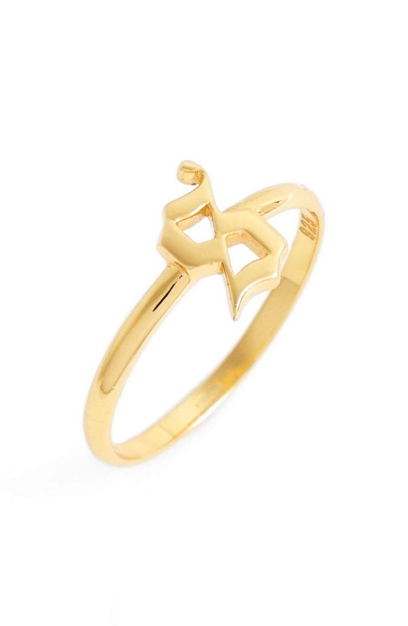 Gothic Initial Ring,                             Main thumbnail 27, color,