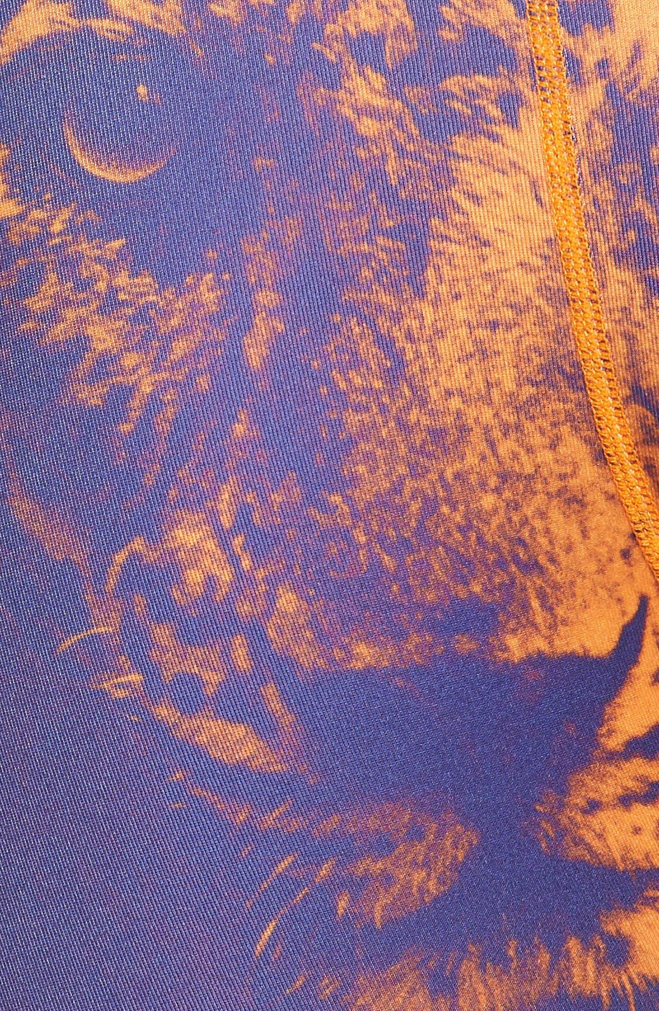 Bronze Leopard Stretch Boxer Briefs,                             Alternate thumbnail 5, color,                             BLUE/ ORANGE