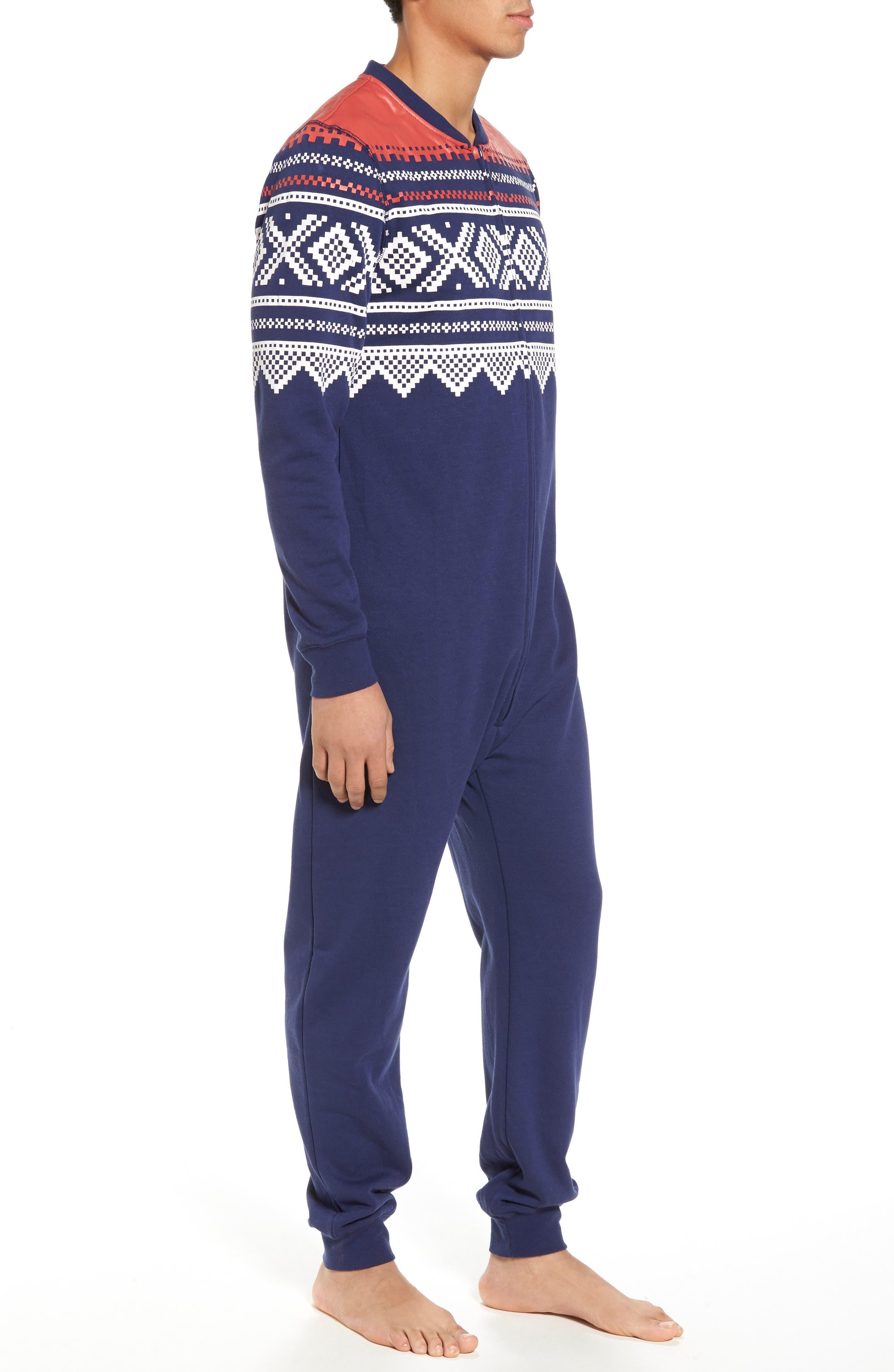 Fleece One-Piece Pajamas,                             Alternate thumbnail 3, color,                             040
