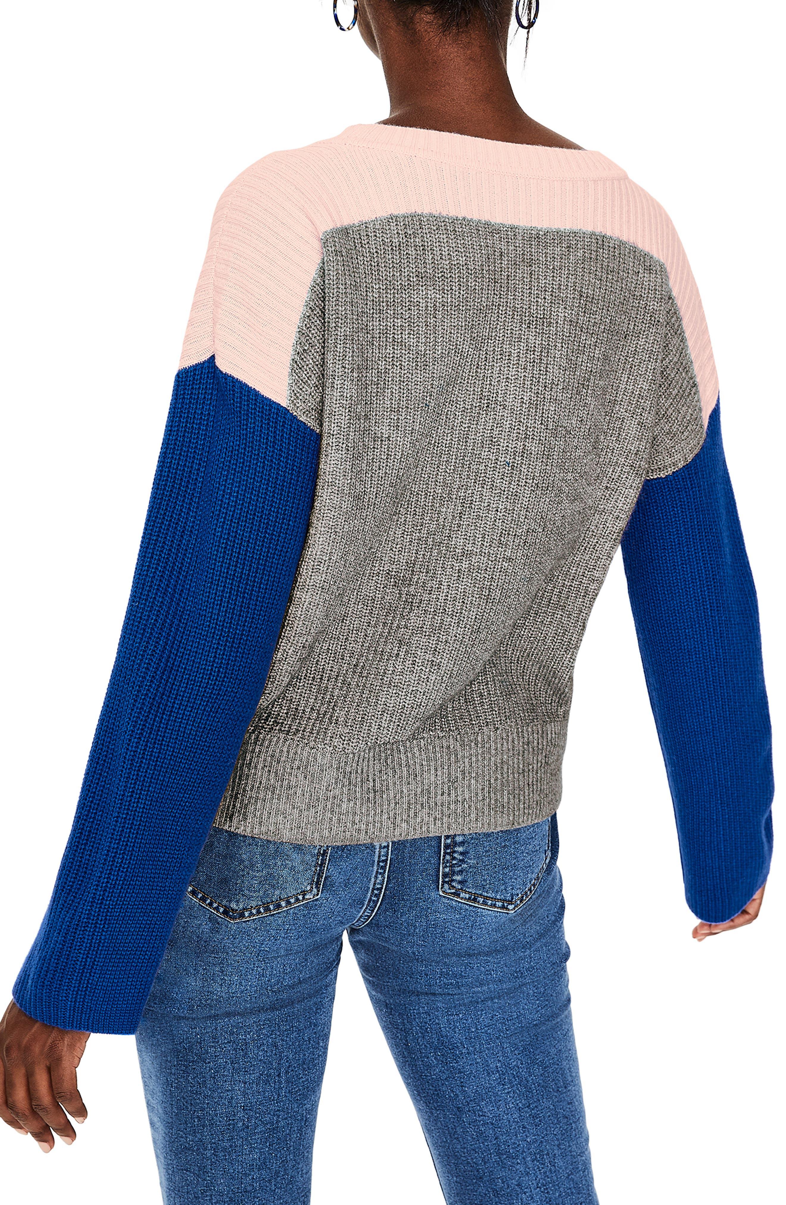 Sophie Colorblock Sweater,                             Alternate thumbnail 2, color,                             GREY MELANGE