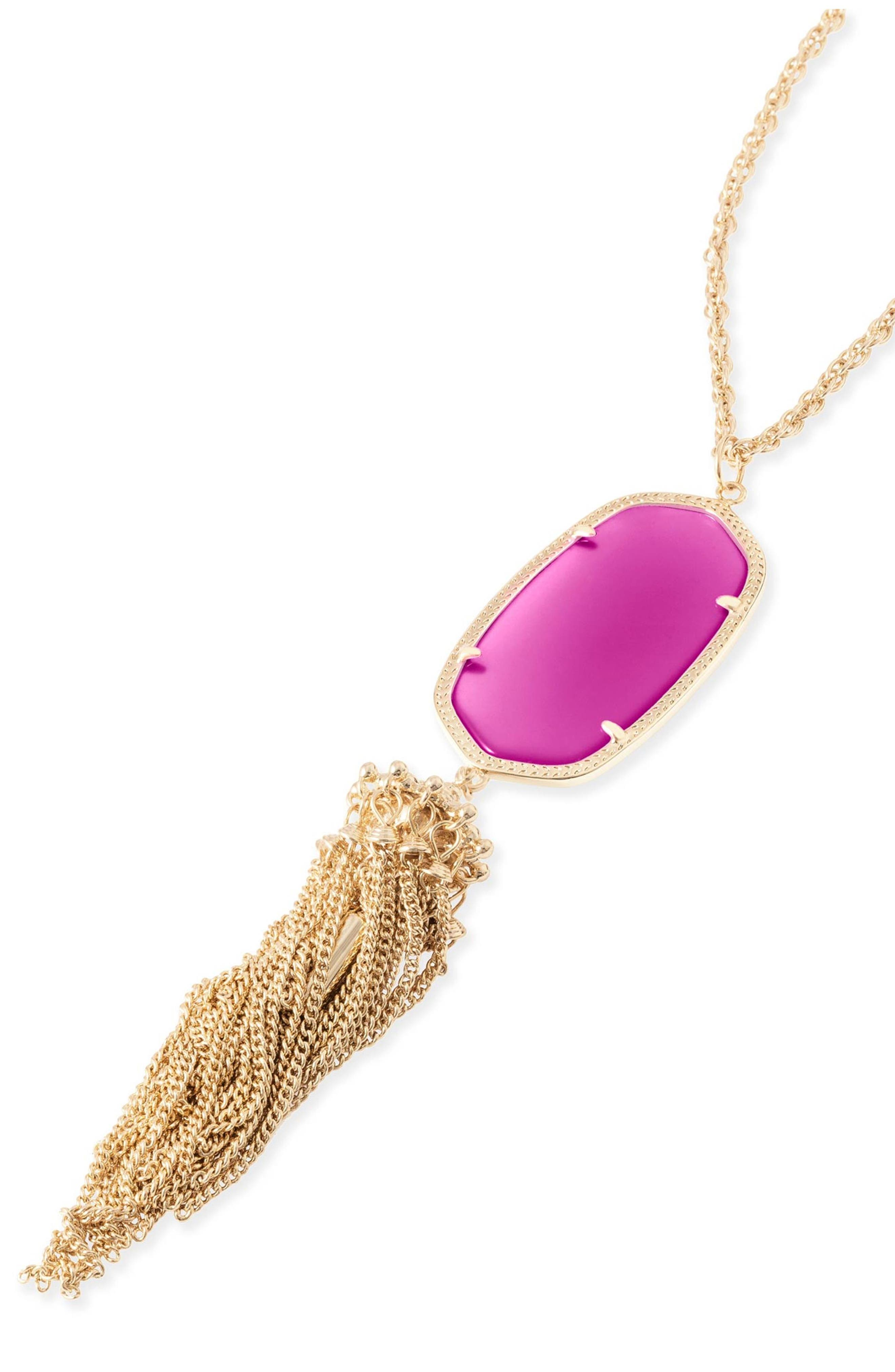 Rayne Stone Tassel Pendant Necklace,                             Alternate thumbnail 94, color,