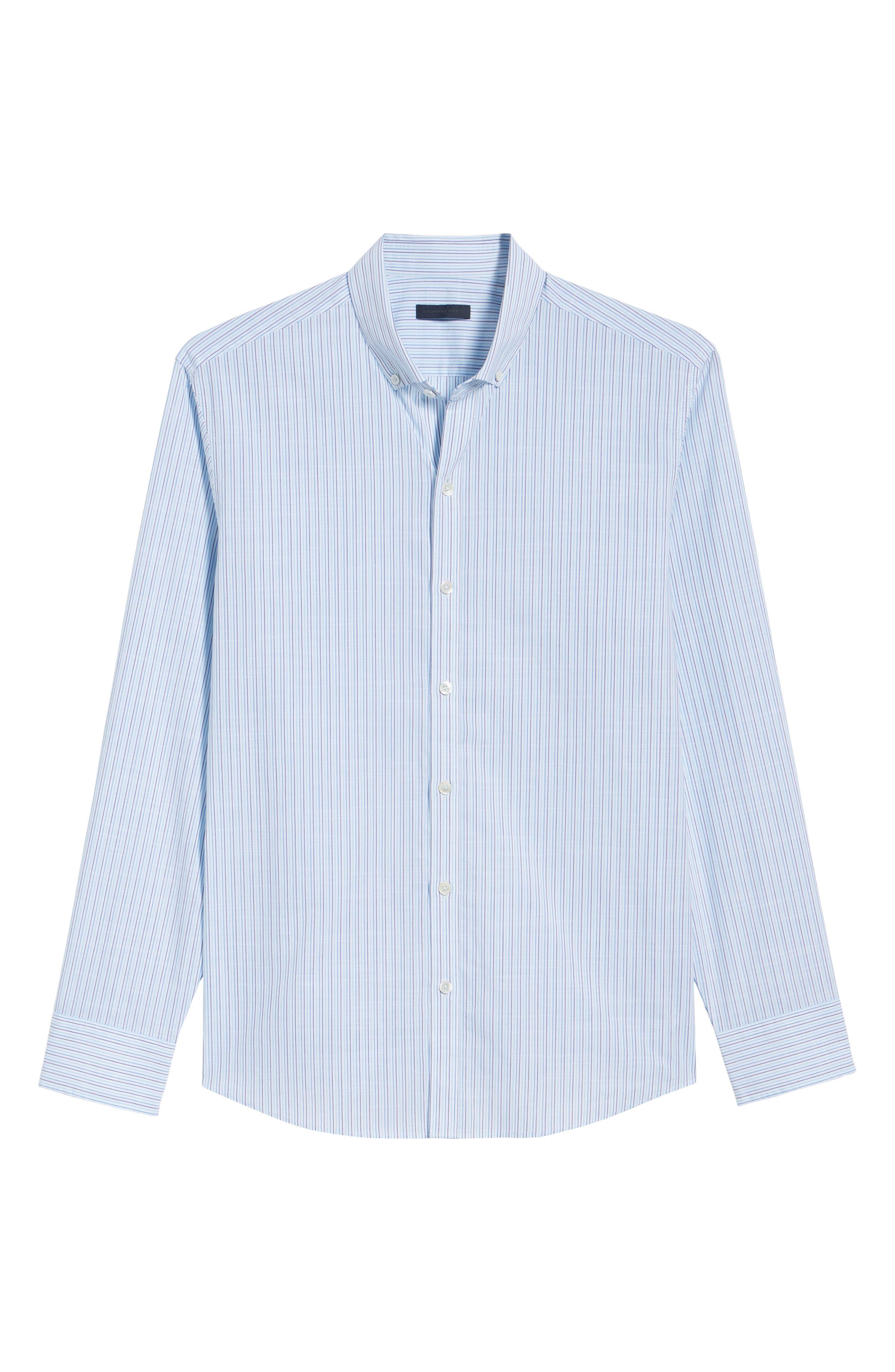 Skeeter Stripe Sport Shirt,                             Alternate thumbnail 6, color,                             440