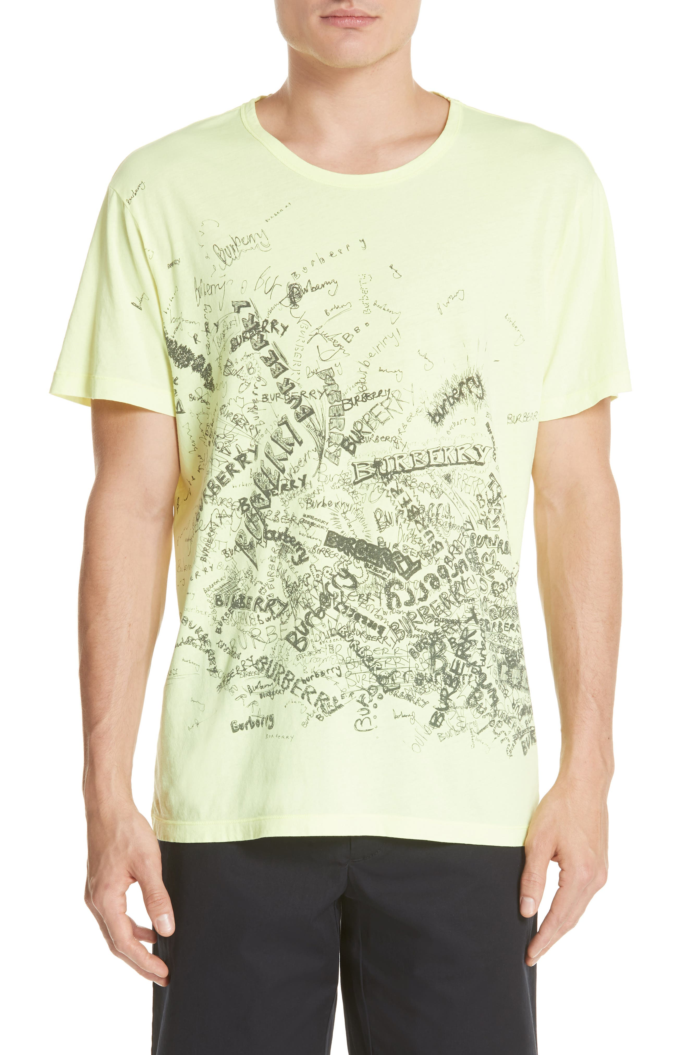 BURBERRY,                             Rydon Graphic T-Shirt,                             Main thumbnail 1, color,                             700