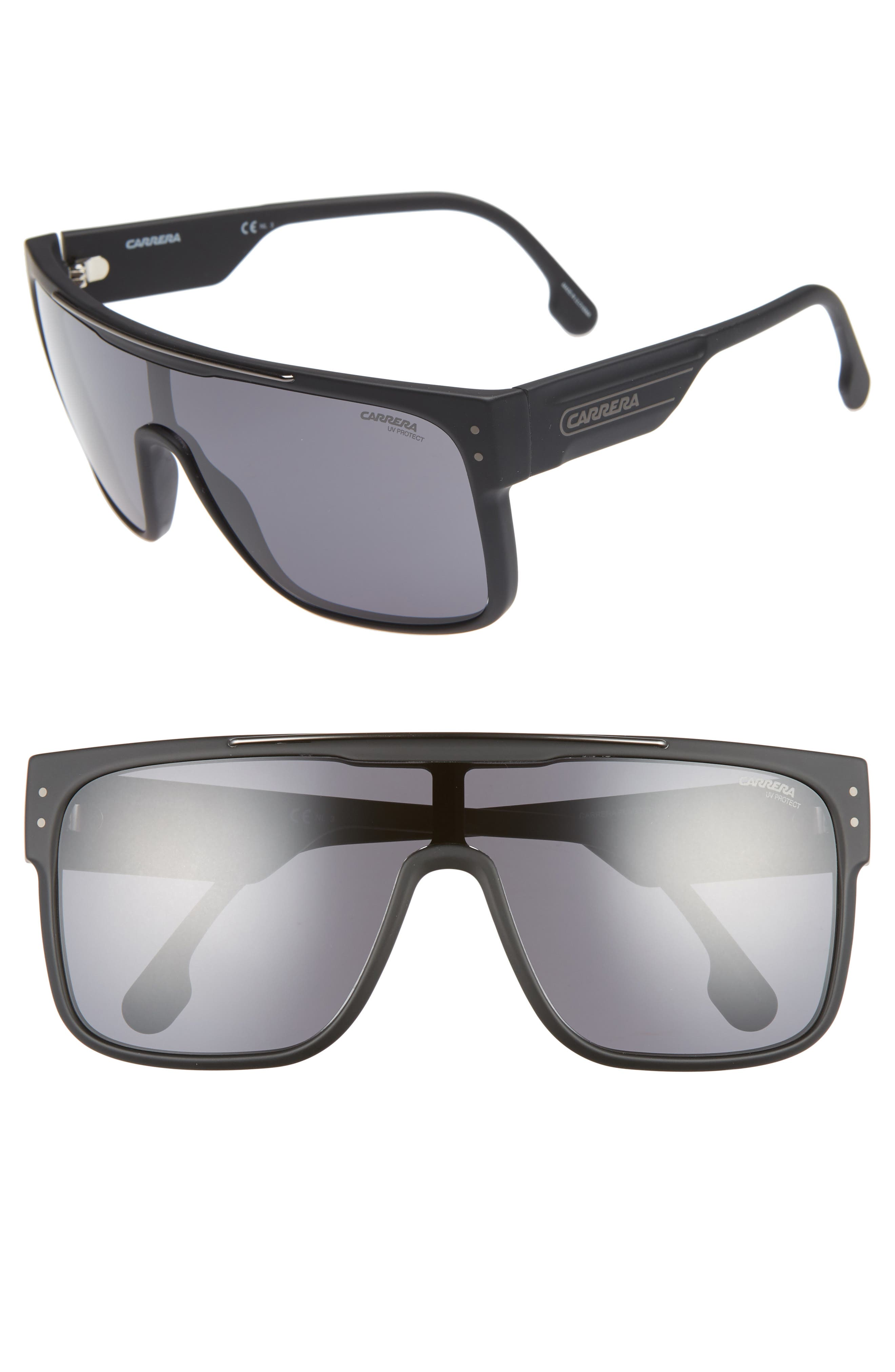 Flagstop II 140mm Flat Top Sunglasses,                         Main,                         color, MATTE BLACK