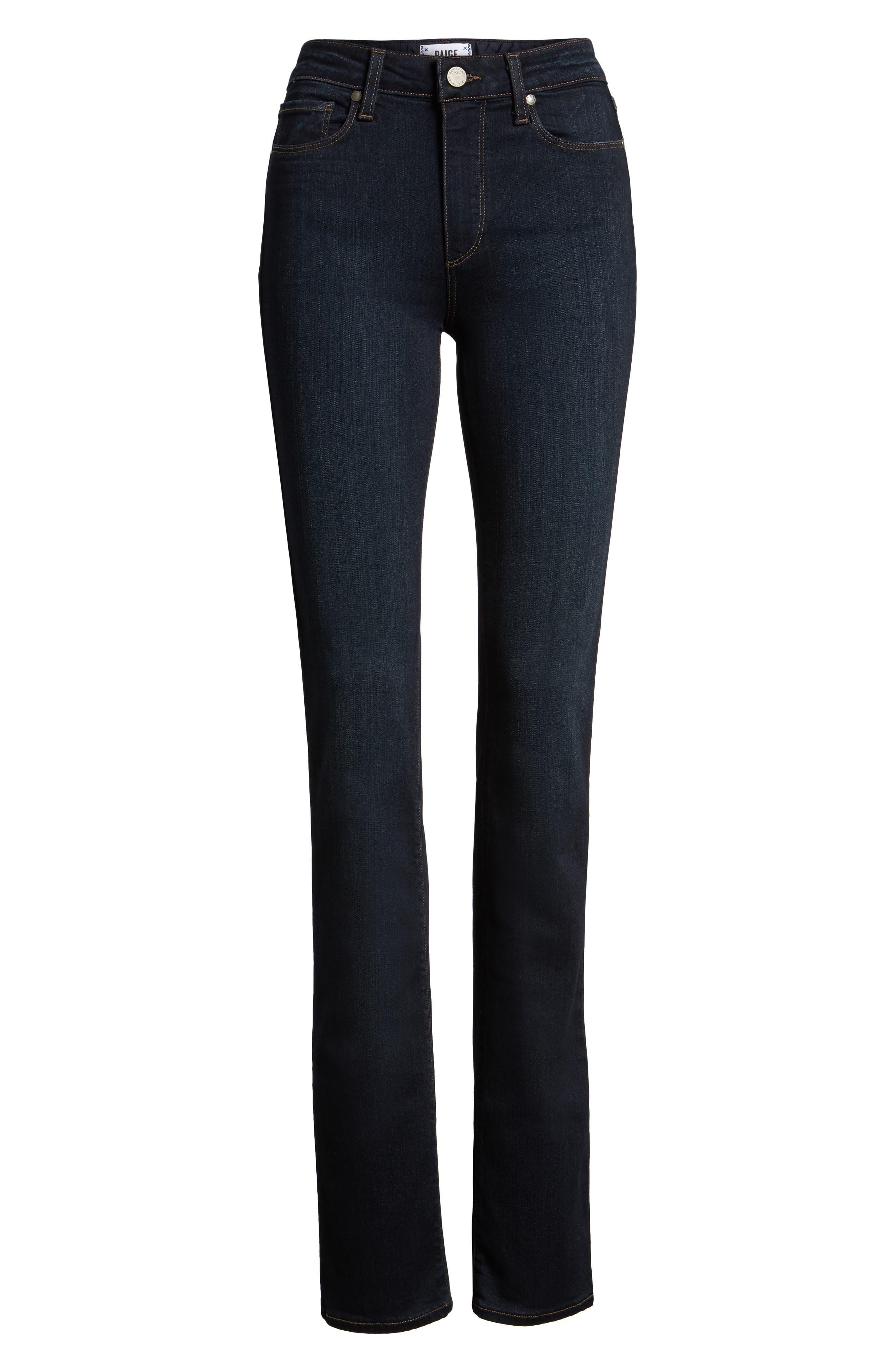 Transcend - Hoxton High Waist Straight Jeans,                         Main,                         color, MONA
