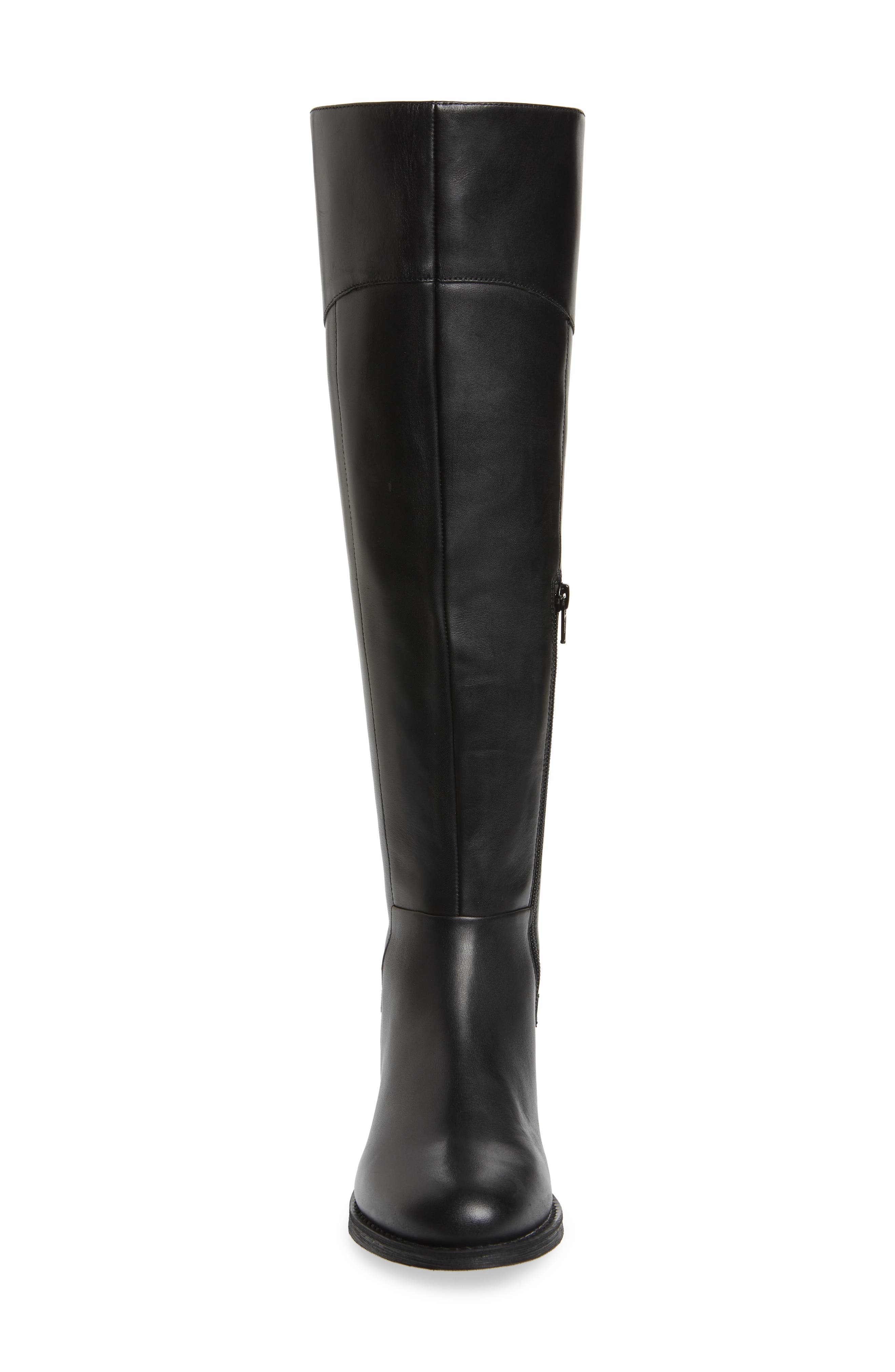 Marianne Over the Knee Boot,                             Alternate thumbnail 4, color,                             BLACK LEATHER