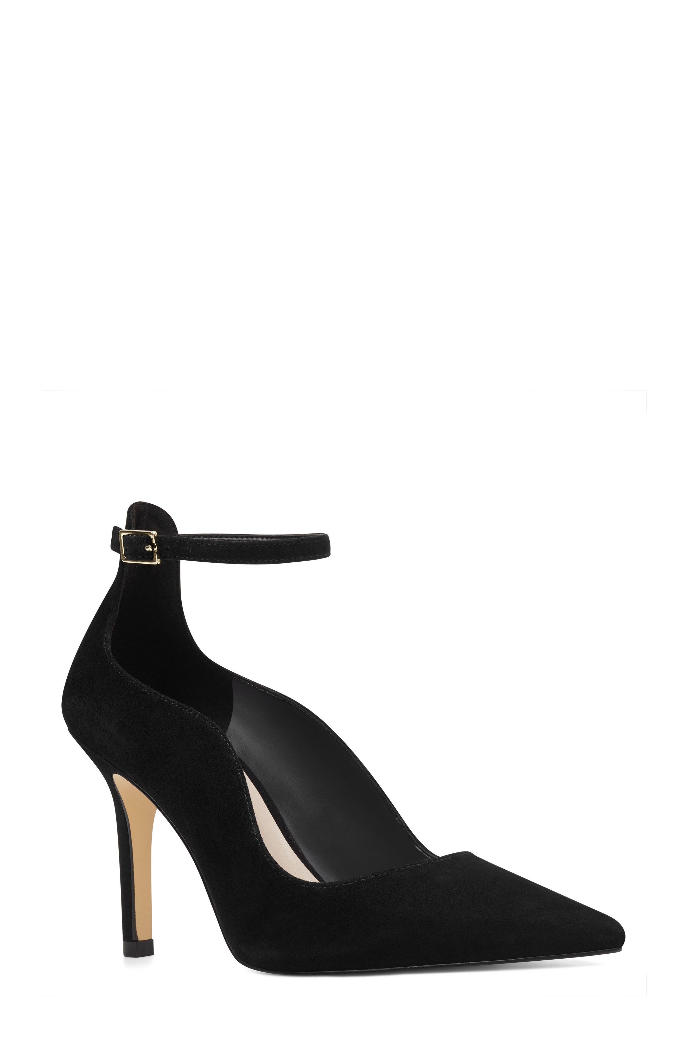 Marquisha Scalloped Ankle Strap Pump,                         Main,                         color,
