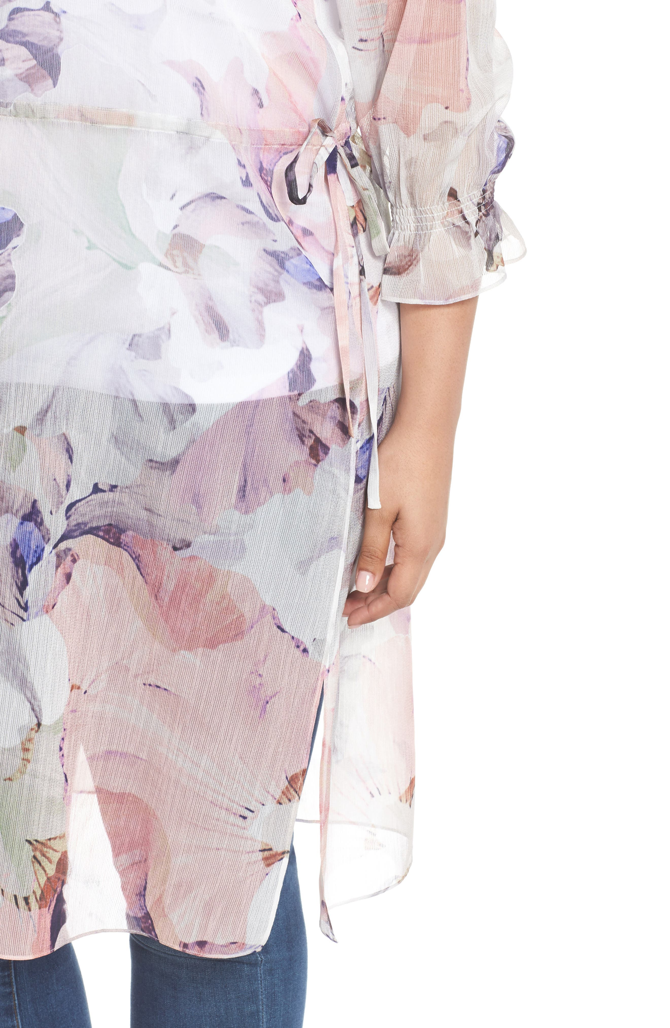 Diffused Bloom Tunic Dress,                             Alternate thumbnail 4, color,                             903