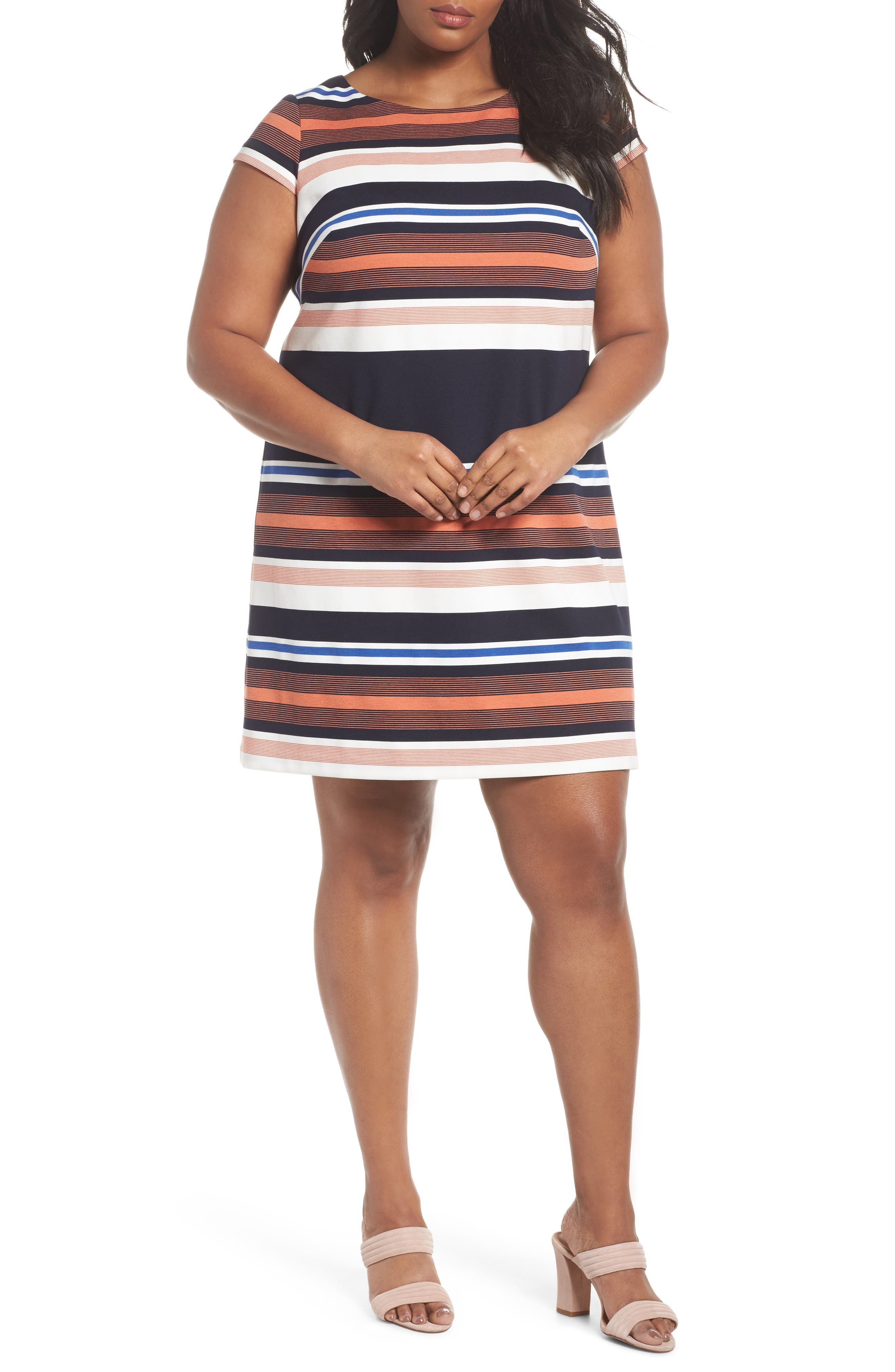 Stripe Shirtdress,                             Main thumbnail 1, color,                             474