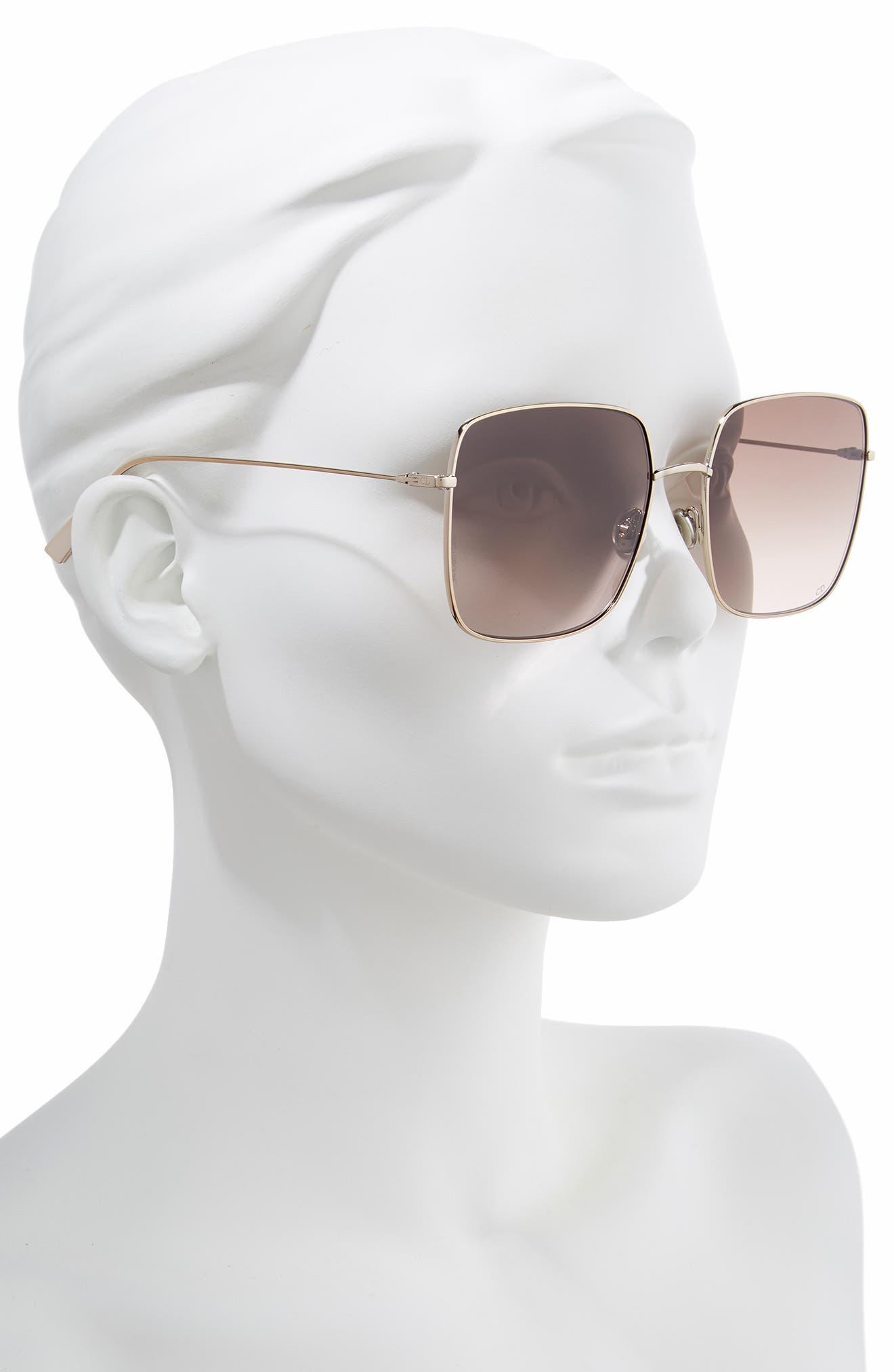 Stellaire 59mm Square Sunglasses,                             Alternate thumbnail 2, color,                             CHAMPAGNE