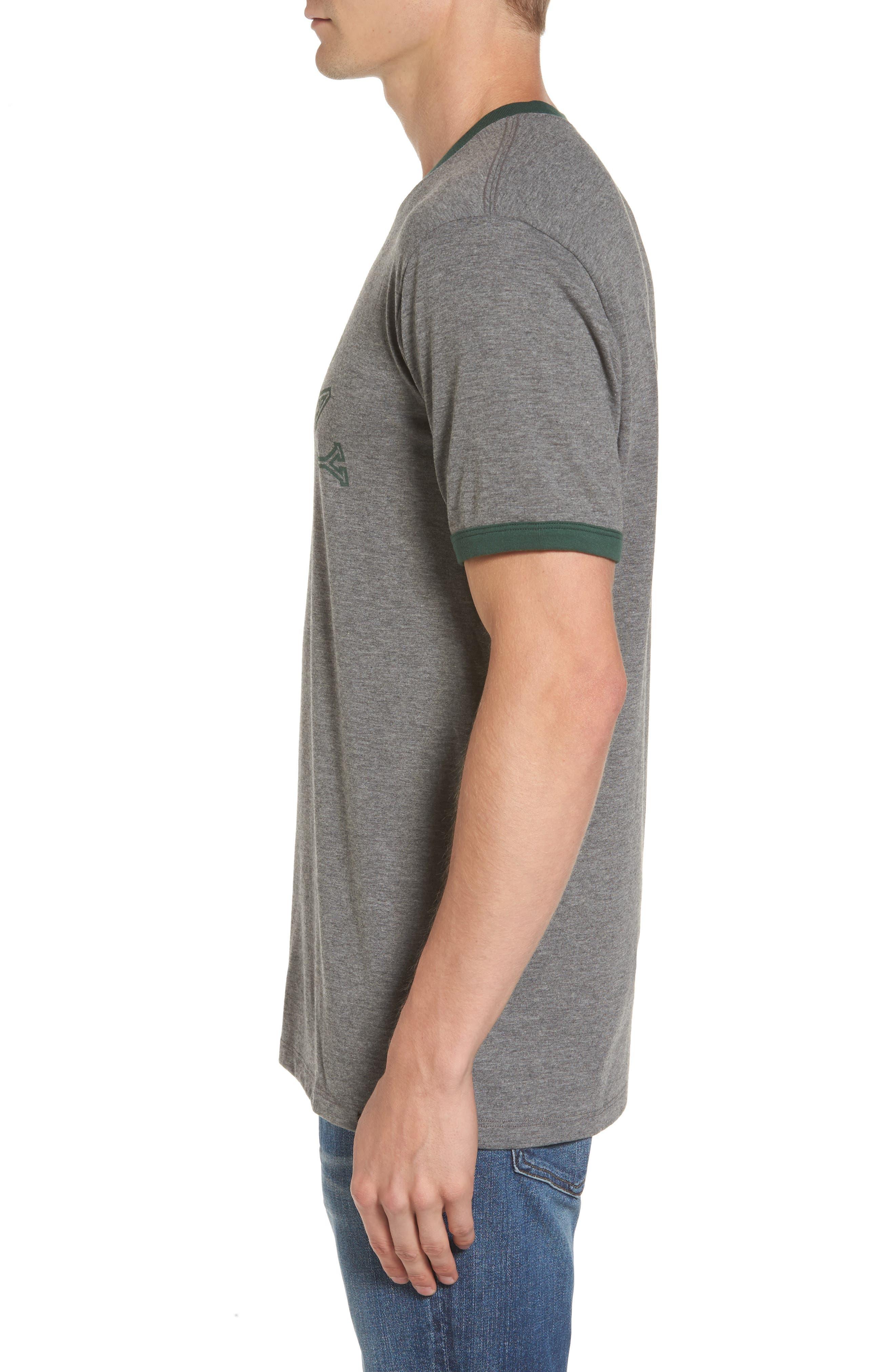 Green Bay Packers Ringer T-Shirt,                             Alternate thumbnail 3, color,                             021