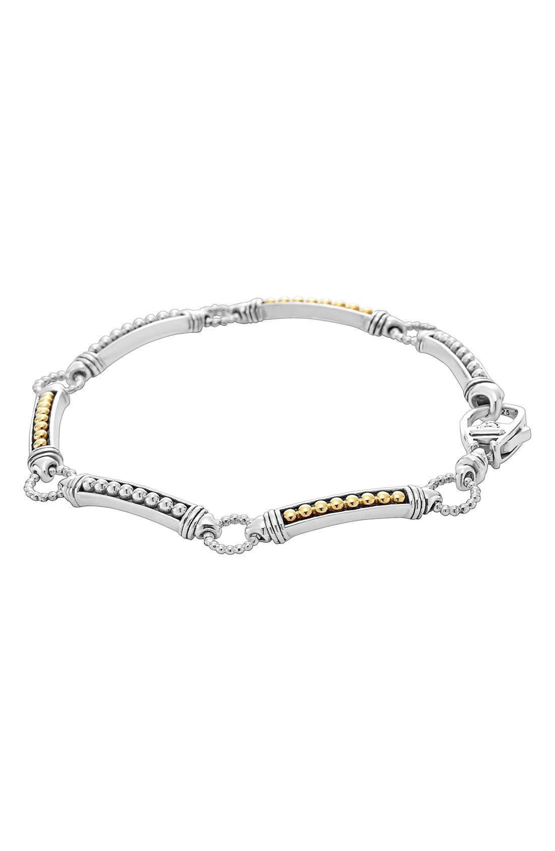 Caviar 'Superfine' Two-Tone Line Bracelet,                             Alternate thumbnail 2, color,                             040
