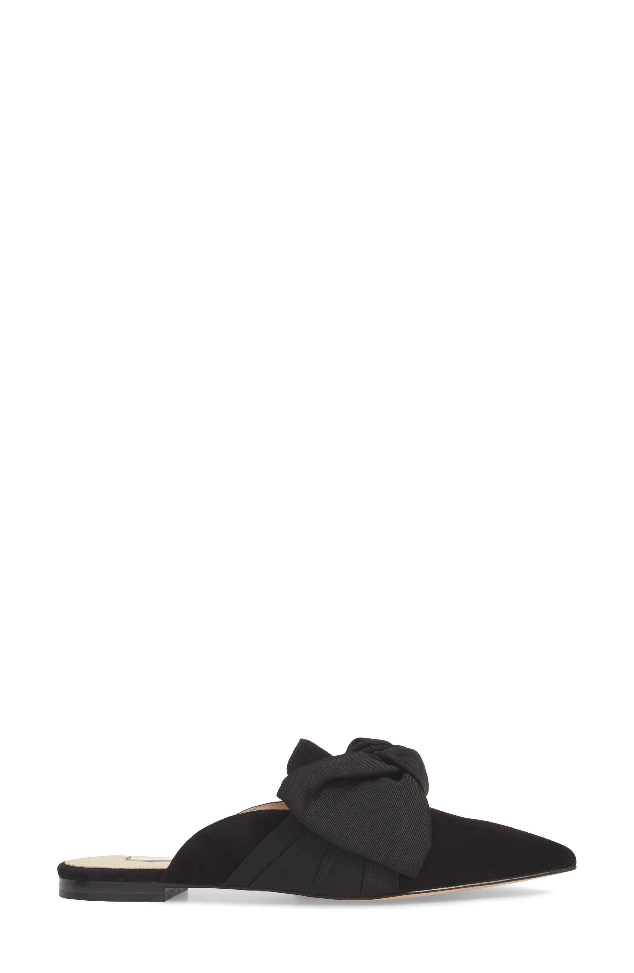 Cela Bow Mule,                             Alternate thumbnail 3, color,                             BLACK SUEDE