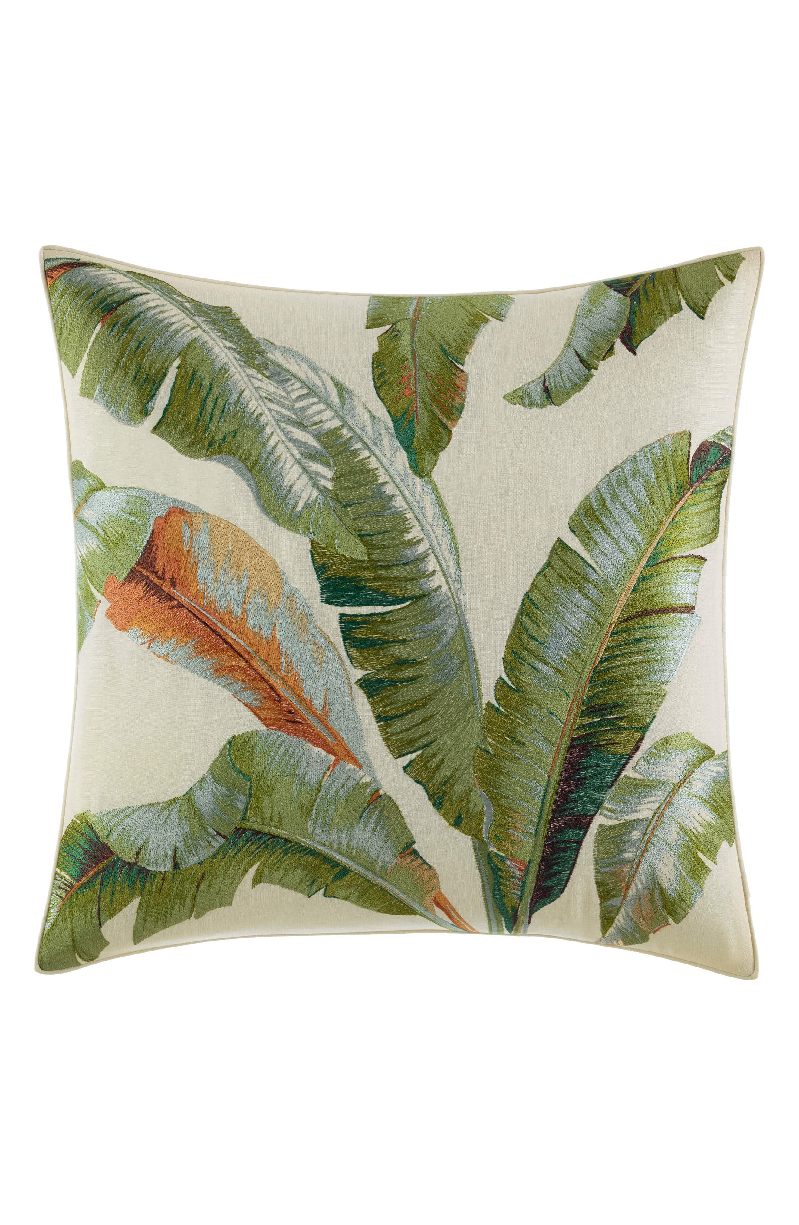 Palmiers Pillow, Main, color, MEDIUM GREEN