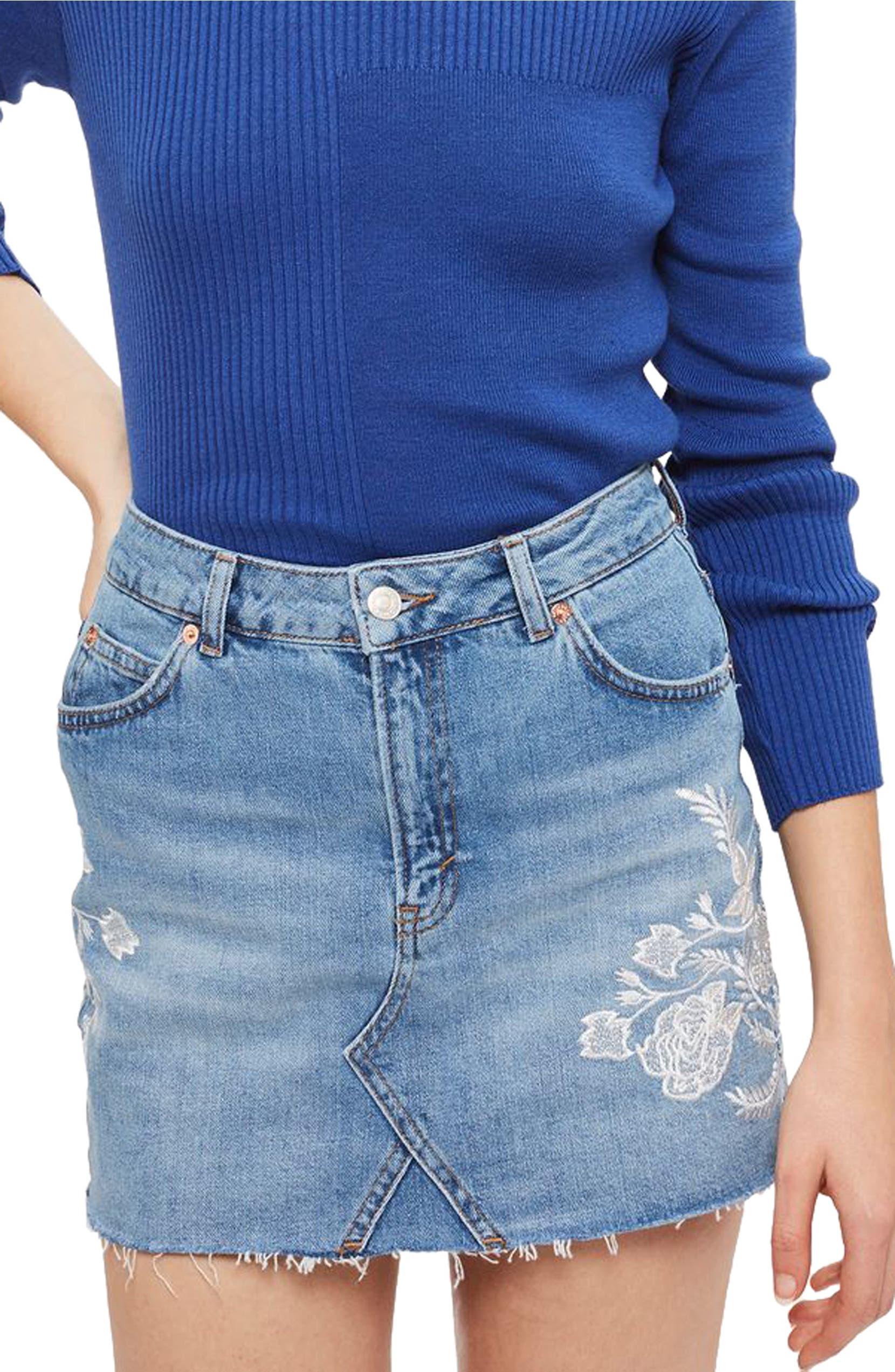 3f5b18140284 Topshop Button Denim Mini Skirt - raveitsafe