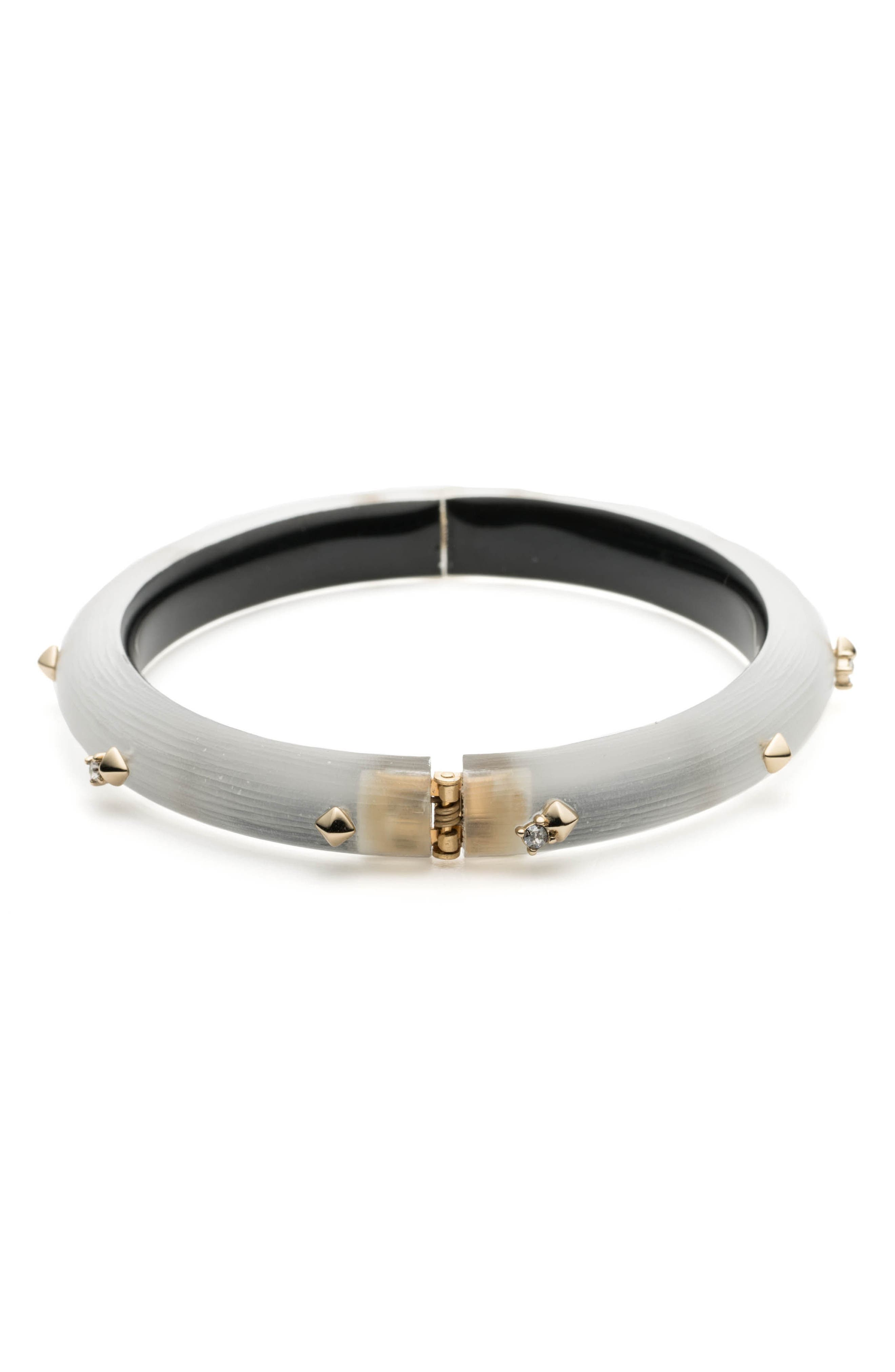 Golden Stud Hinge Bracelet,                             Alternate thumbnail 2, color,                             SILVER