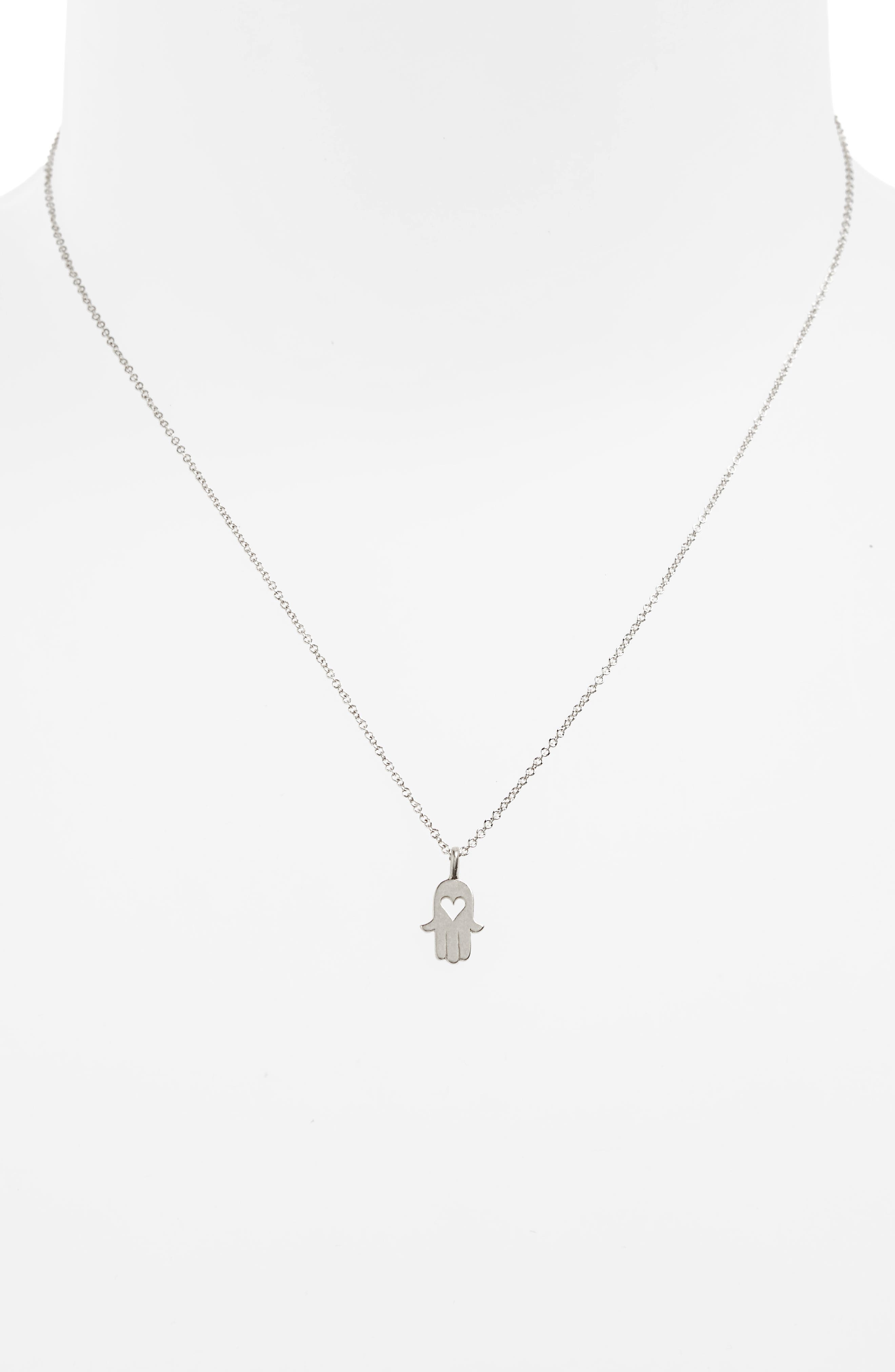 Love & Protection Pendant Necklace,                             Alternate thumbnail 3, color,                             042