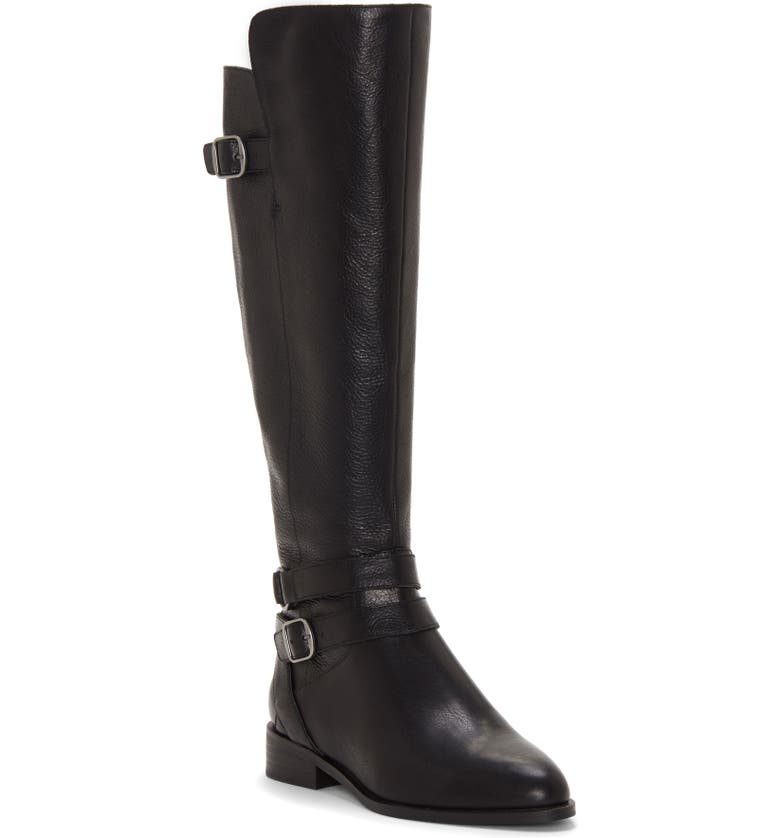 Paxtreen Over the Knee Boot, Main, color, BLACK LEATHER