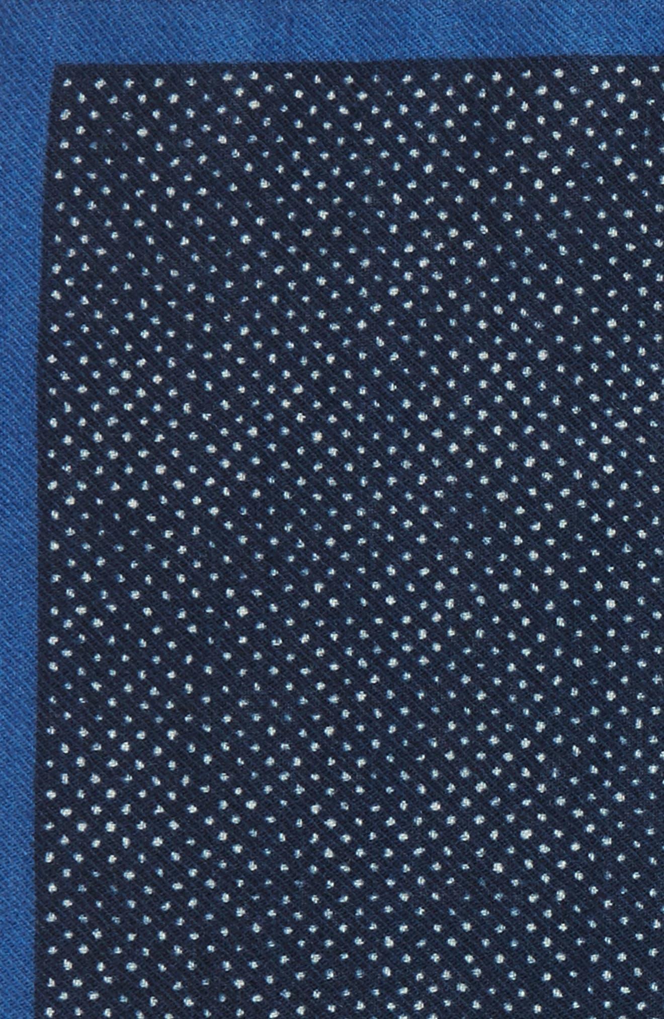 Dot Wool Pocket Square,                             Alternate thumbnail 3, color,                             411