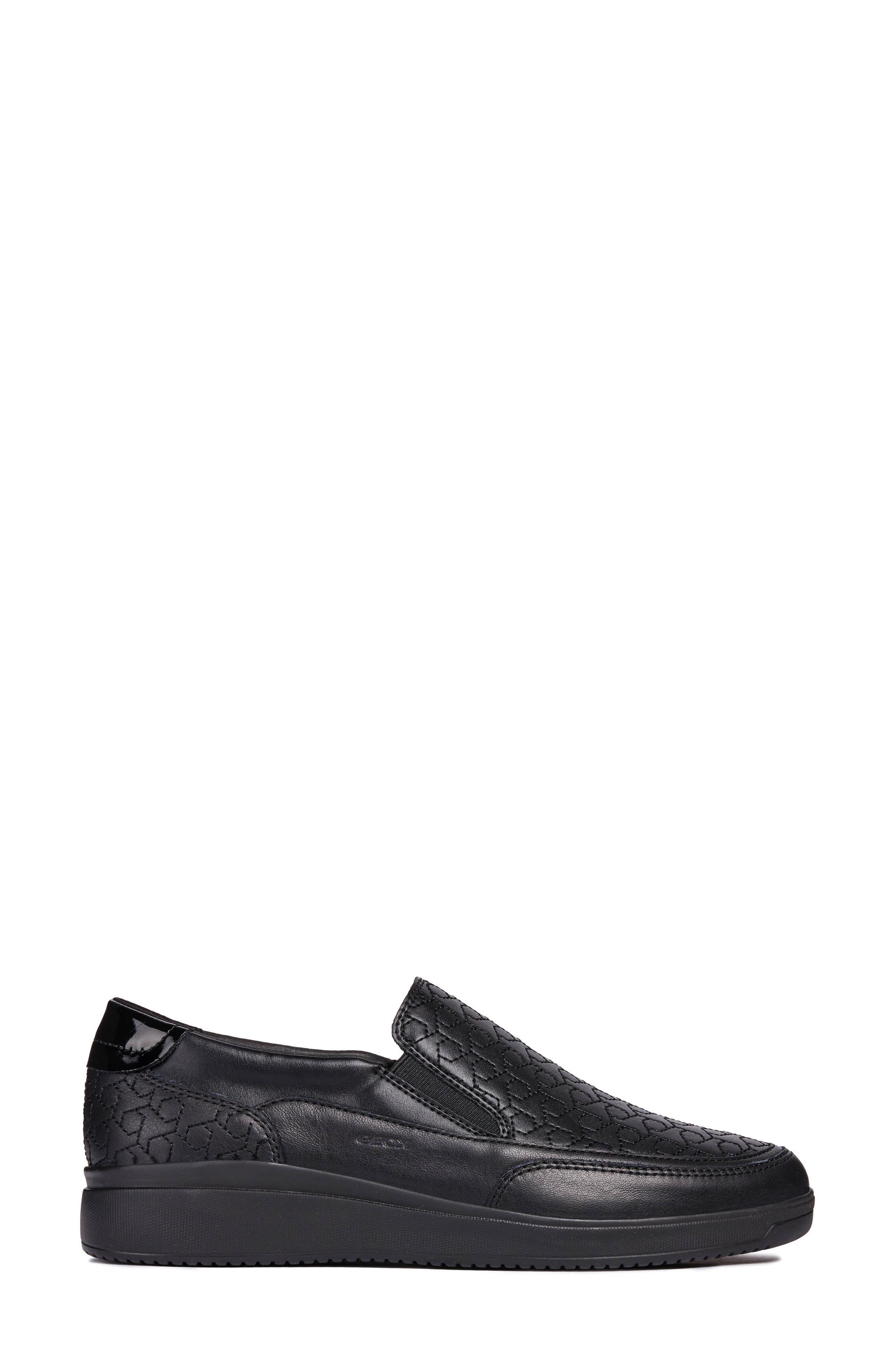 Tahina Slip-On Sneaker,                             Alternate thumbnail 3, color,                             BLACK FABRIC